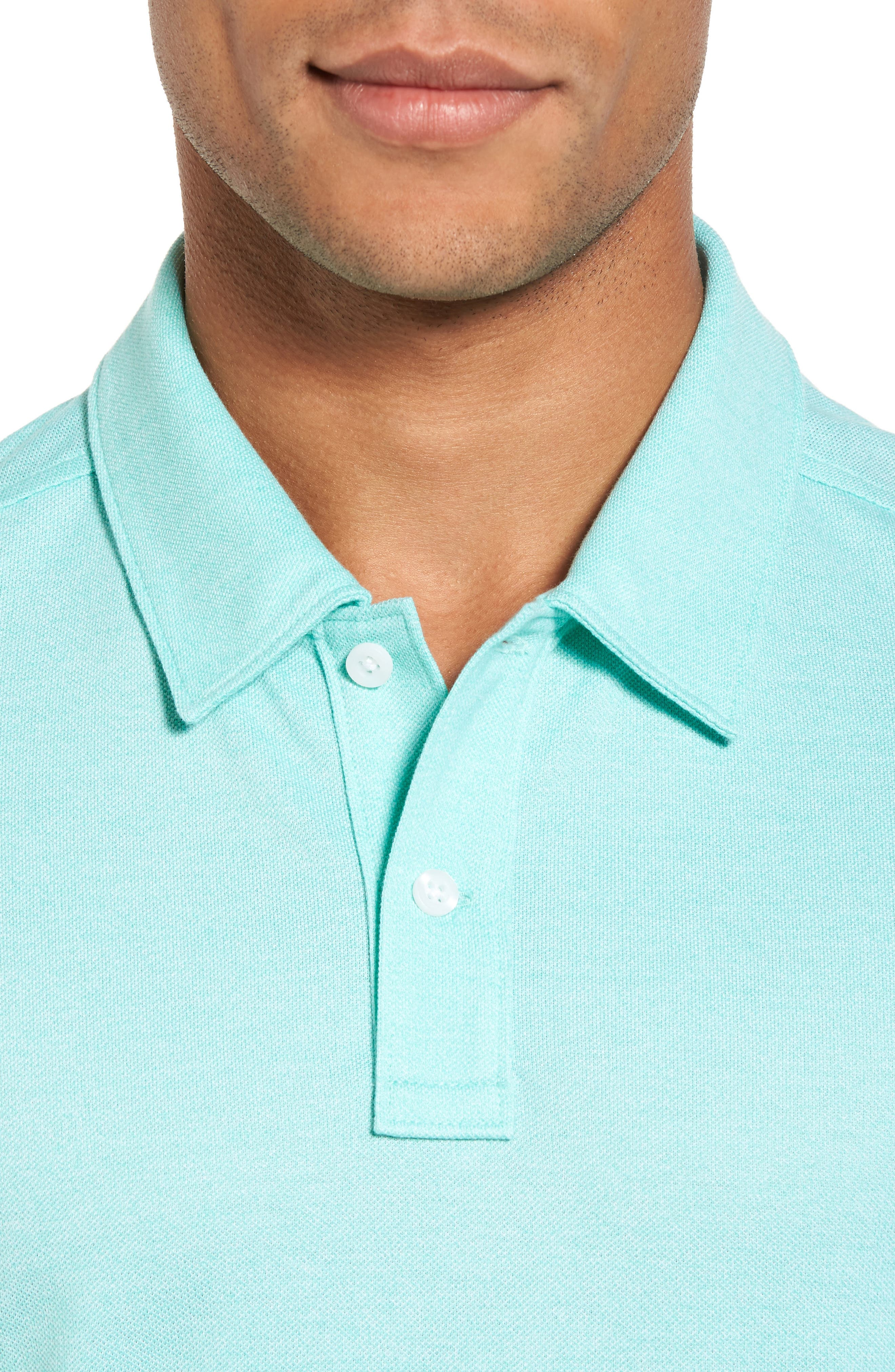 Regular Fit Polo,                             Alternate thumbnail 4, color,                             TEAL GLOSS