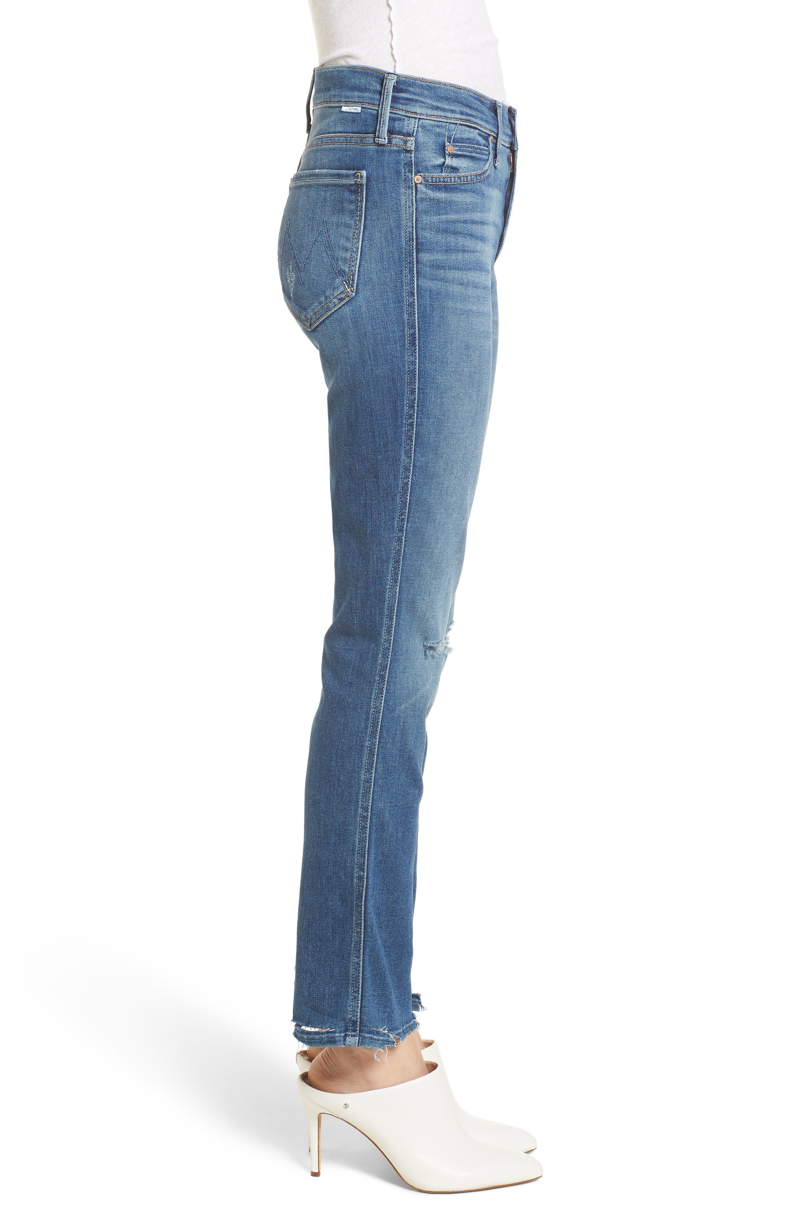 The Rascal Ankle Straight Leg Jeans,                             Alternate thumbnail 3, color,                             420