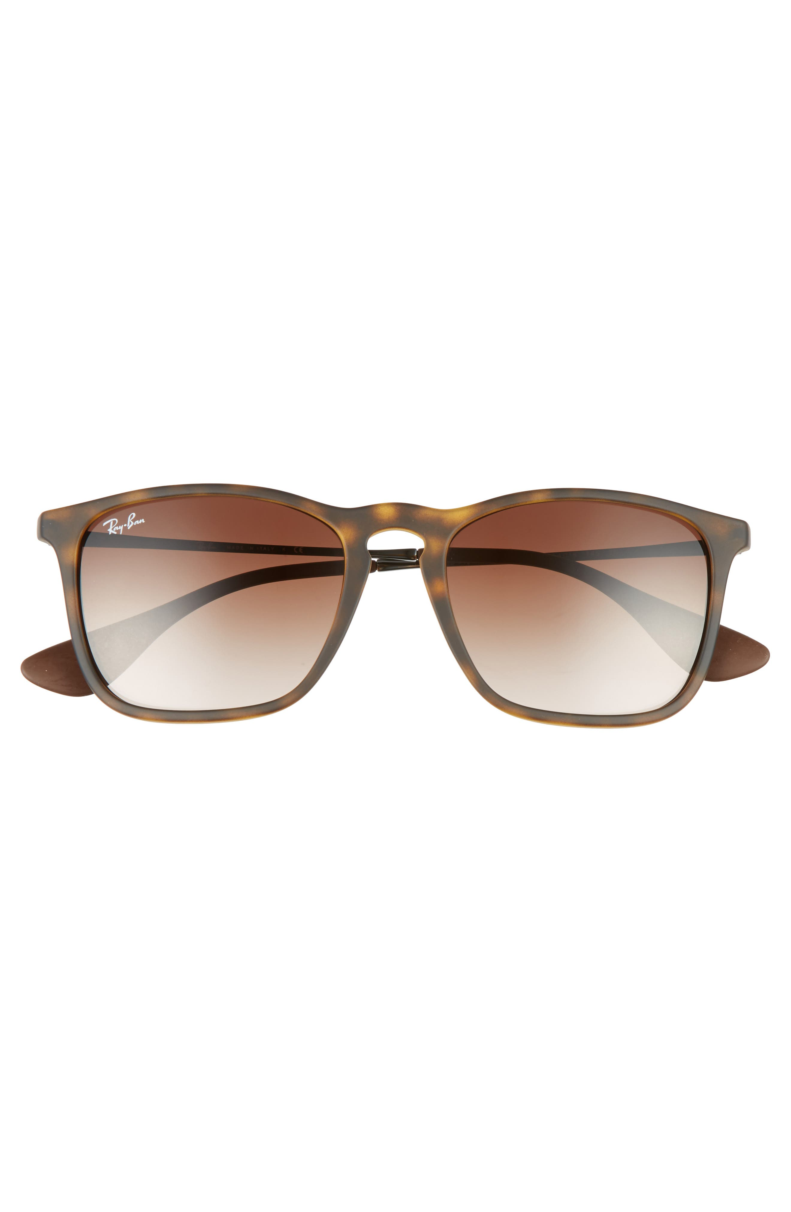 Youngster 54mm Square Keyhole Sunglasses,                             Alternate thumbnail 3, color,                             BROWN