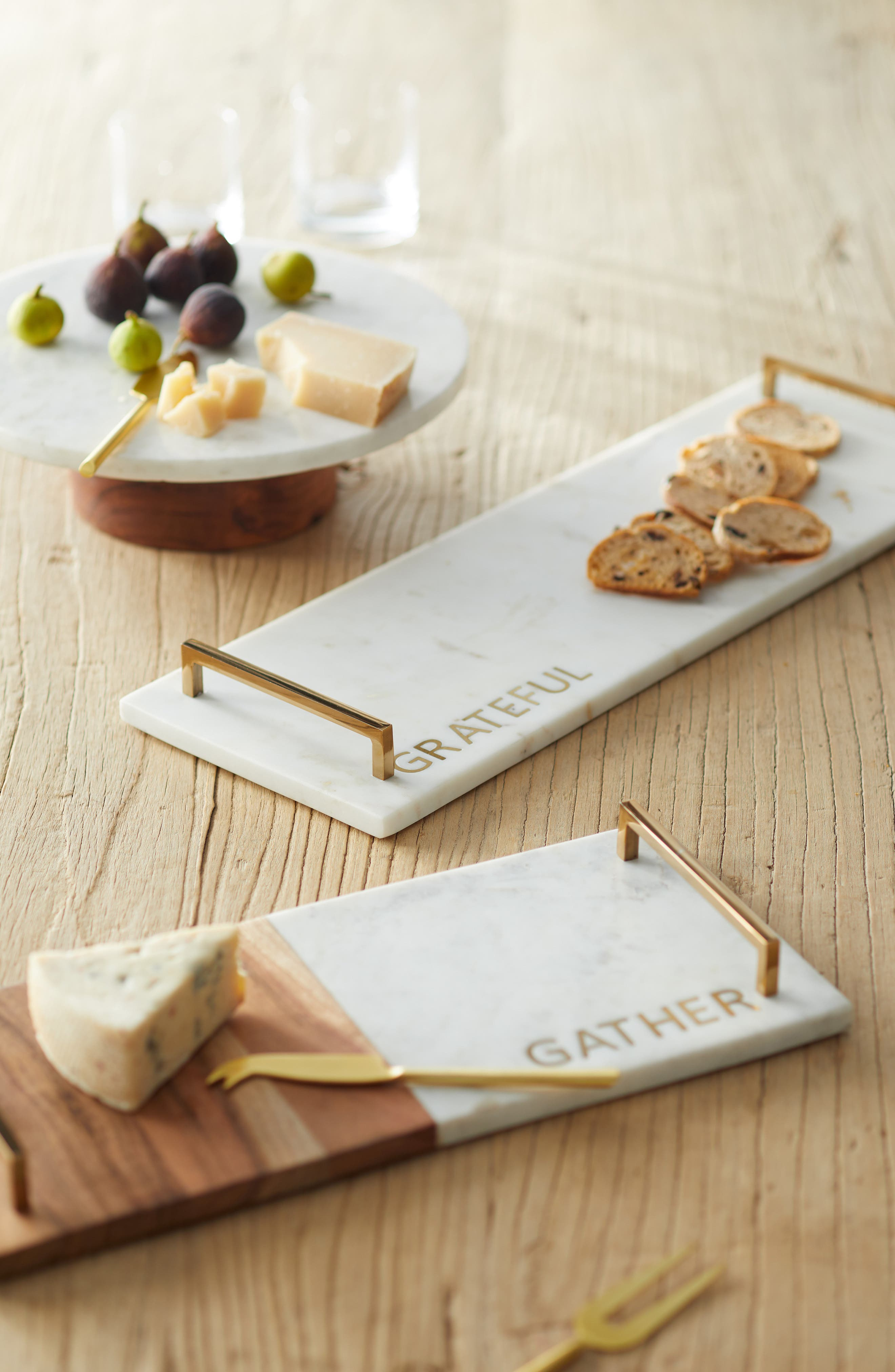 Set of 4 Cheese Knives,                             Alternate thumbnail 2, color,                             GOLD