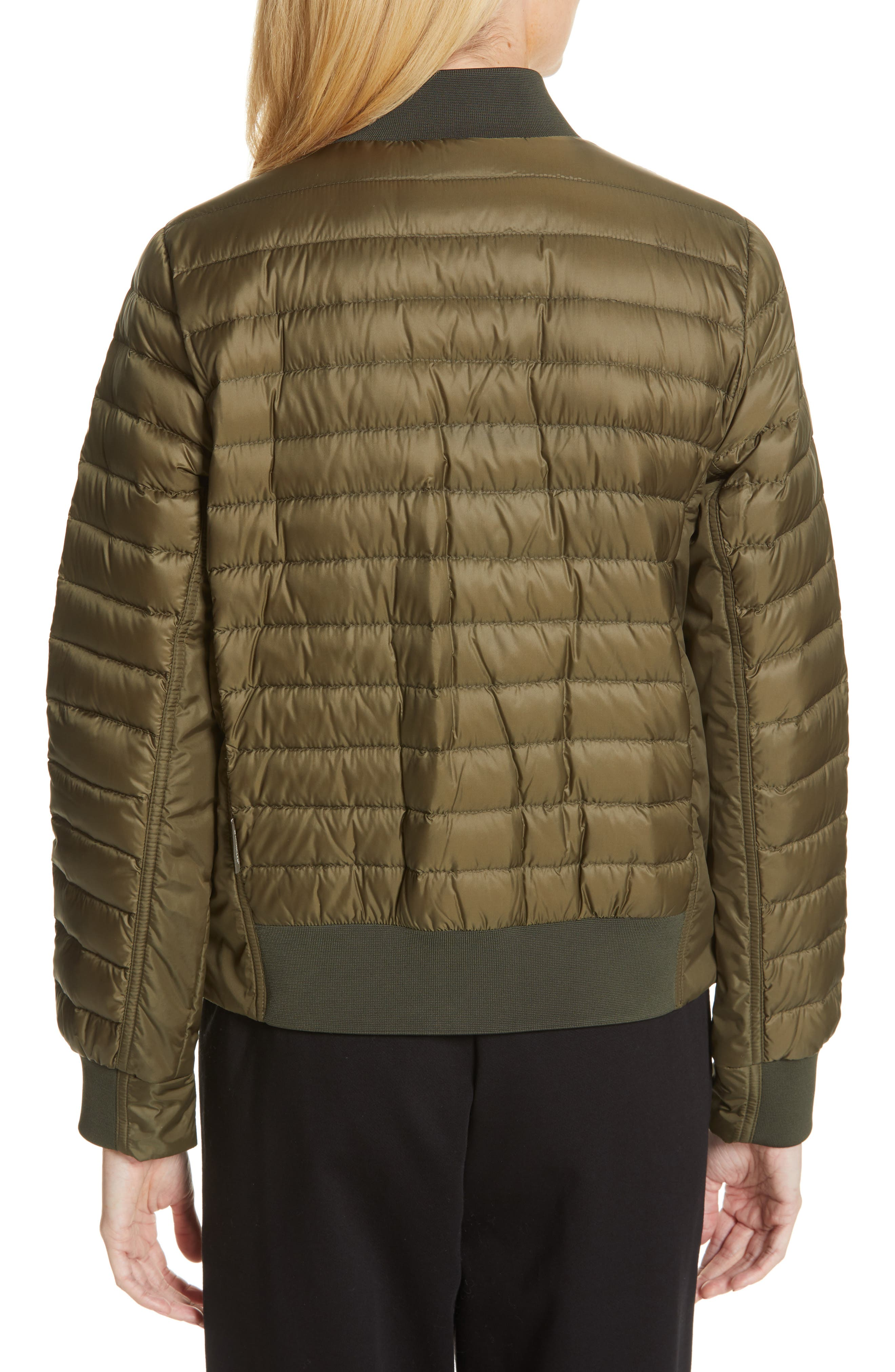MONCLER,                             Rome Quilted Down Jacket,                             Alternate thumbnail 2, color,                             DARK GREEN