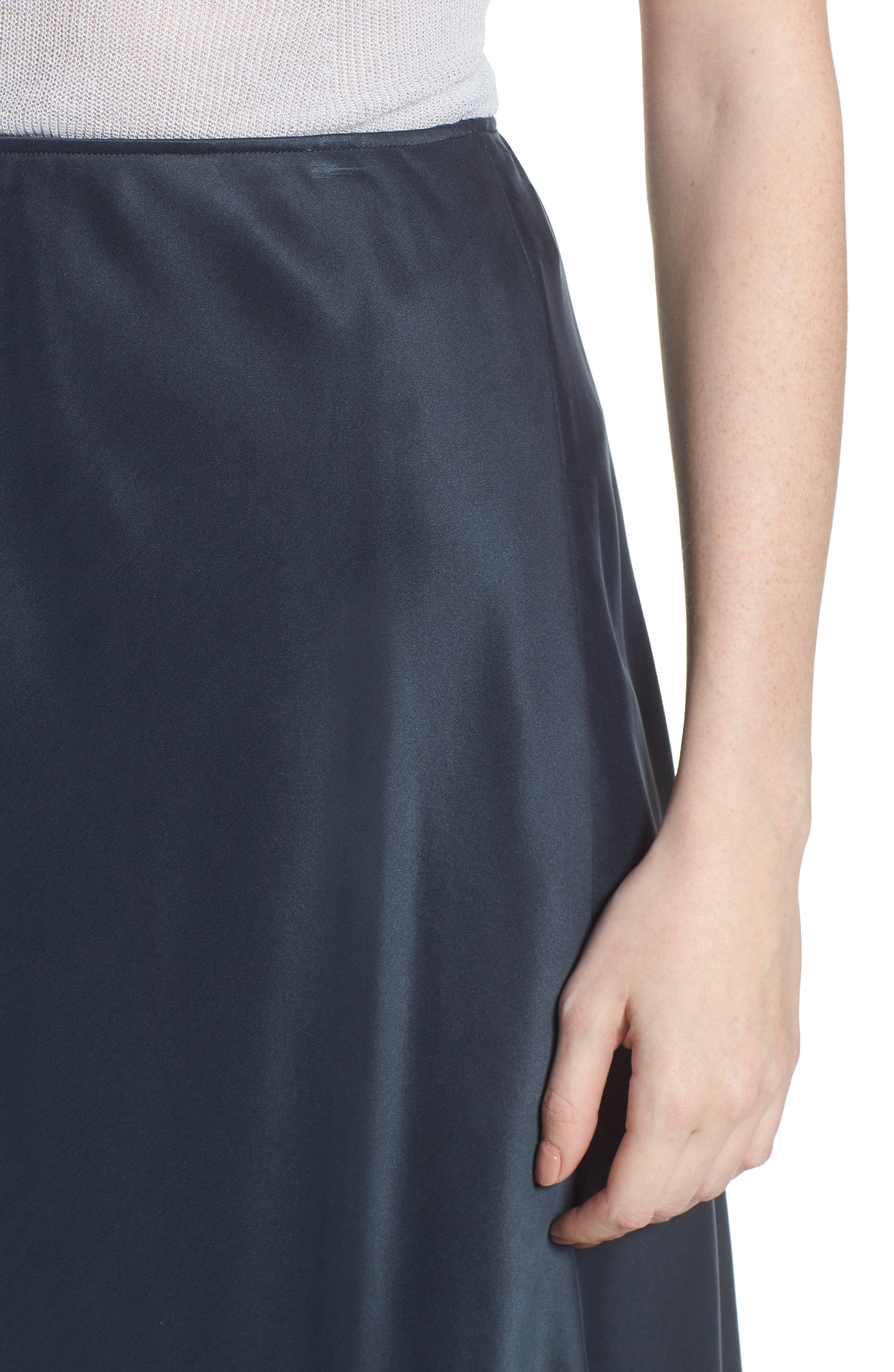 Bias Cut Silk Skirt,                             Alternate thumbnail 4, color,                             025
