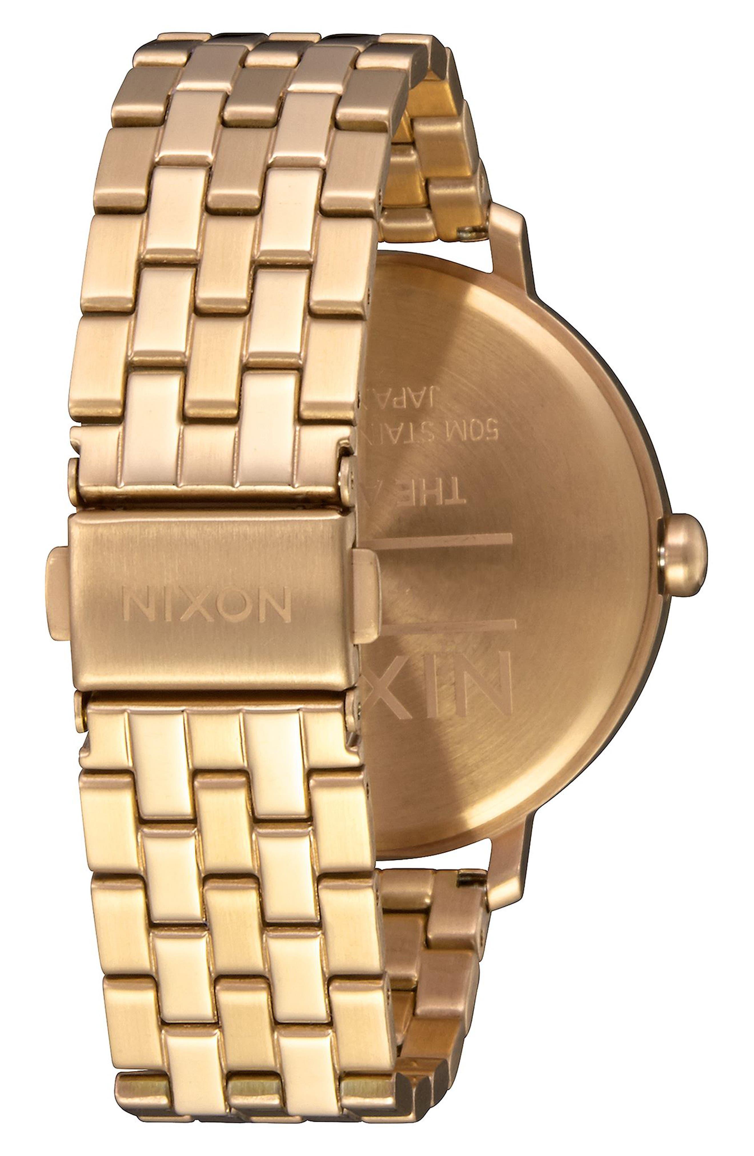 The Arrow Bracelet Watch, 38mm,                             Alternate thumbnail 2, color,                             GOLD/ WHITE/ GOLD
