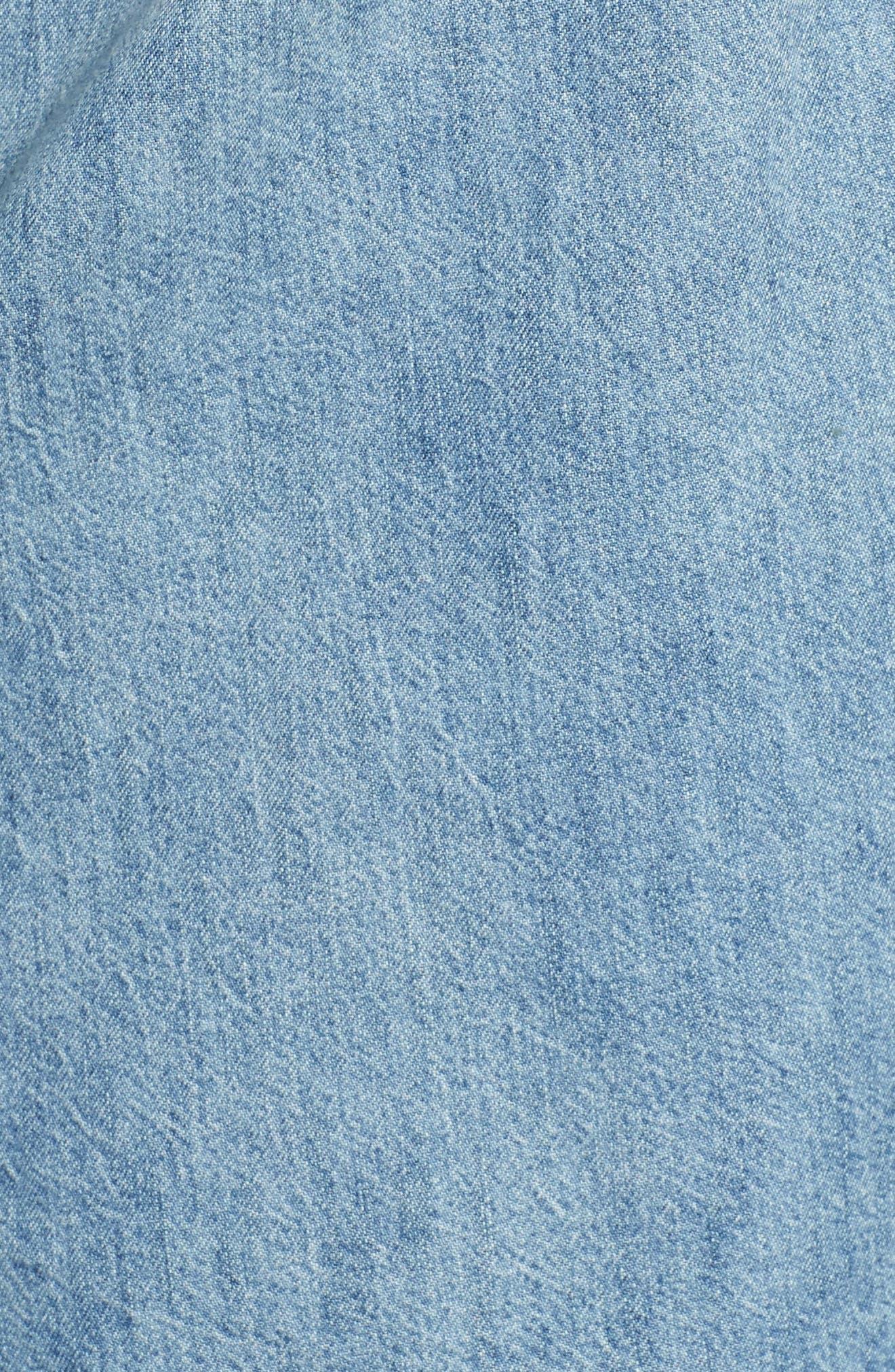 LUCKY BRAND,                             Chambray Boyfriend Shirt,                             Alternate thumbnail 5, color,                             440