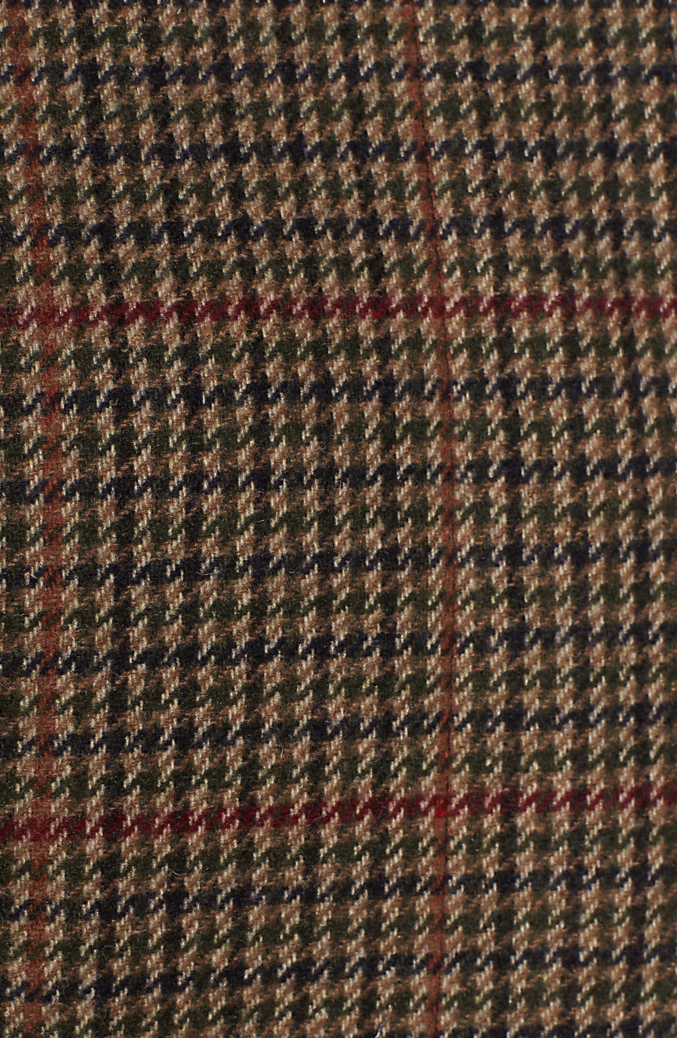 Plaid Topper Coat,                             Alternate thumbnail 6, color,                             MULTI