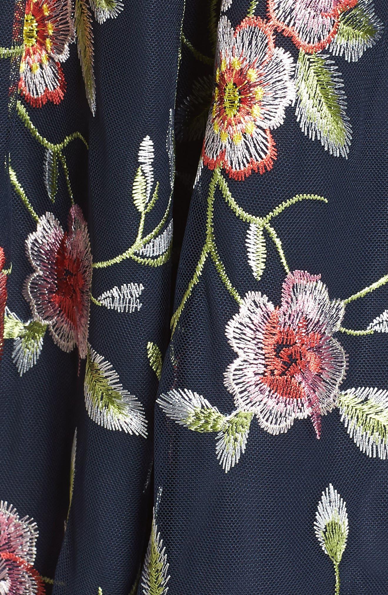 Embroidered Midi Dress,                             Alternate thumbnail 6, color,                             470