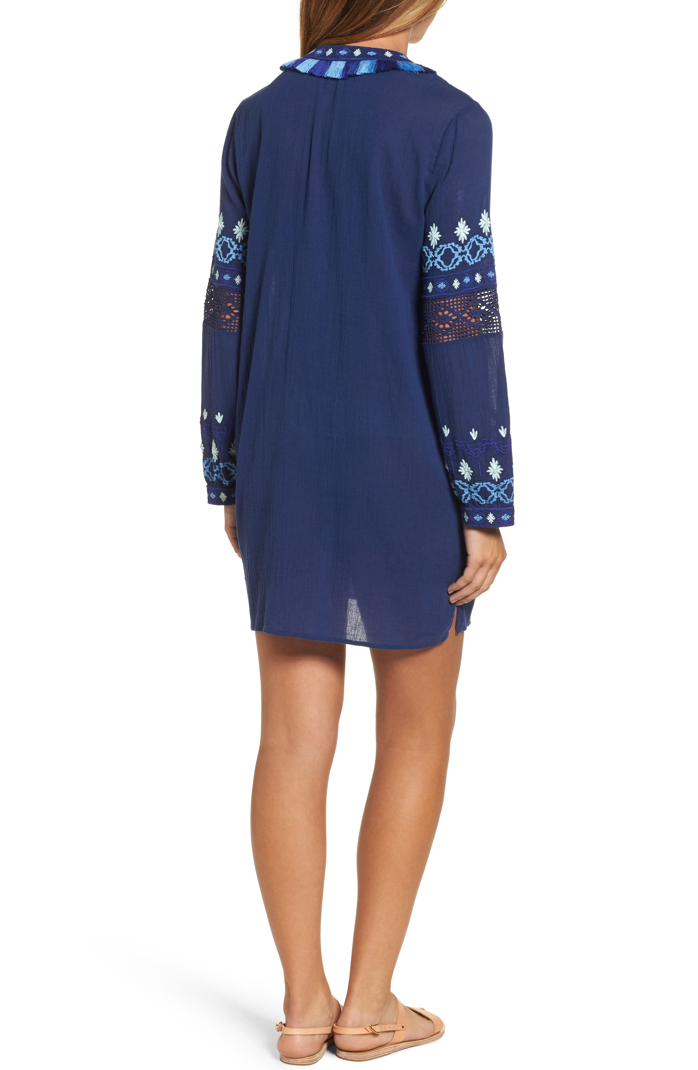 Solid Embroidered Cover-Up,                             Alternate thumbnail 2, color,                             476