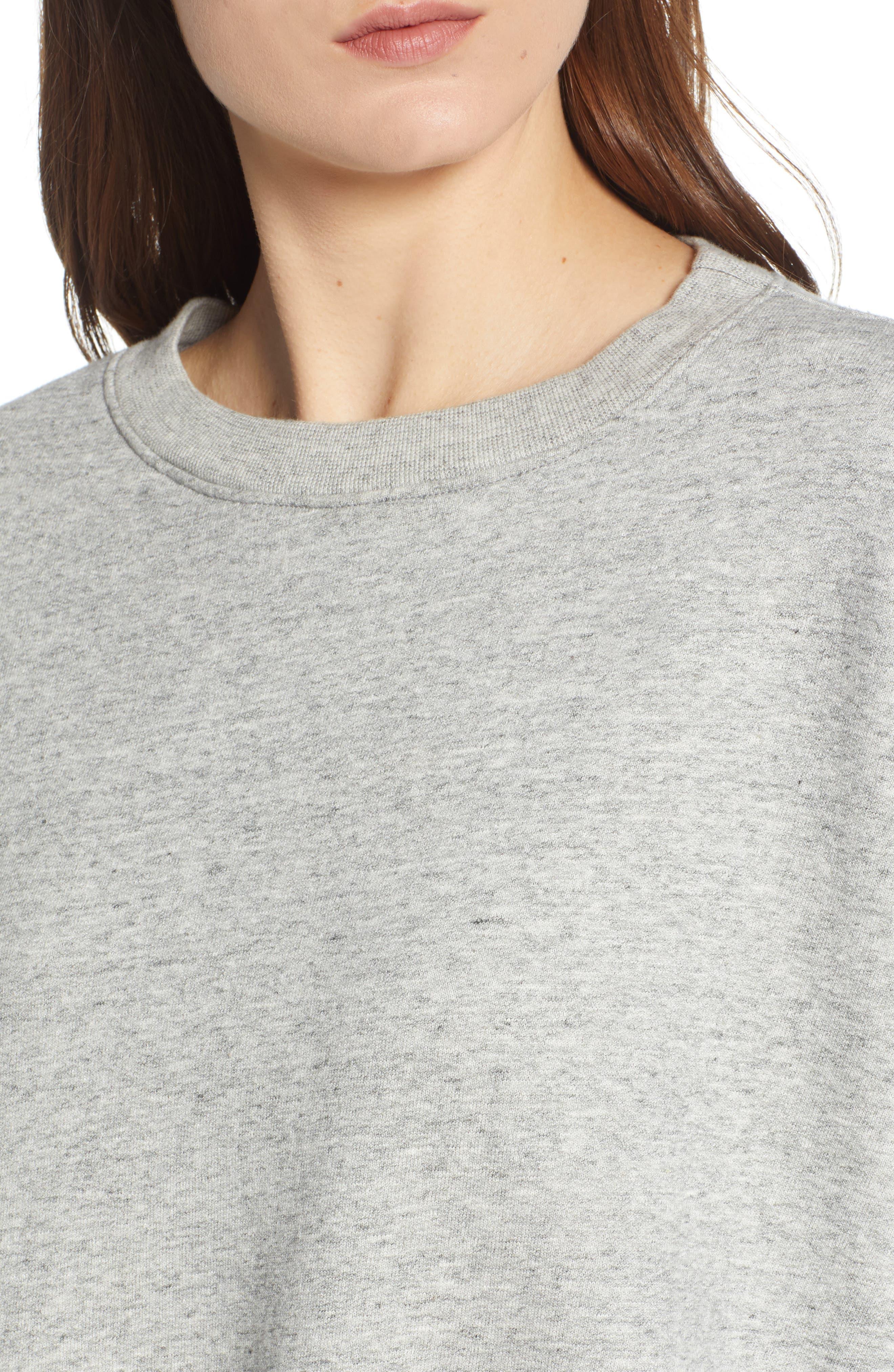Berdine Oversize Sweatshirt,                             Alternate thumbnail 4, color,                             HEATHER GREY