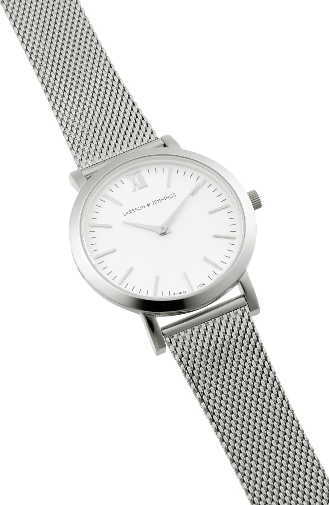 'Lugano' Mesh Strap Watch, 33mm,                             Alternate thumbnail 3, color,                             040