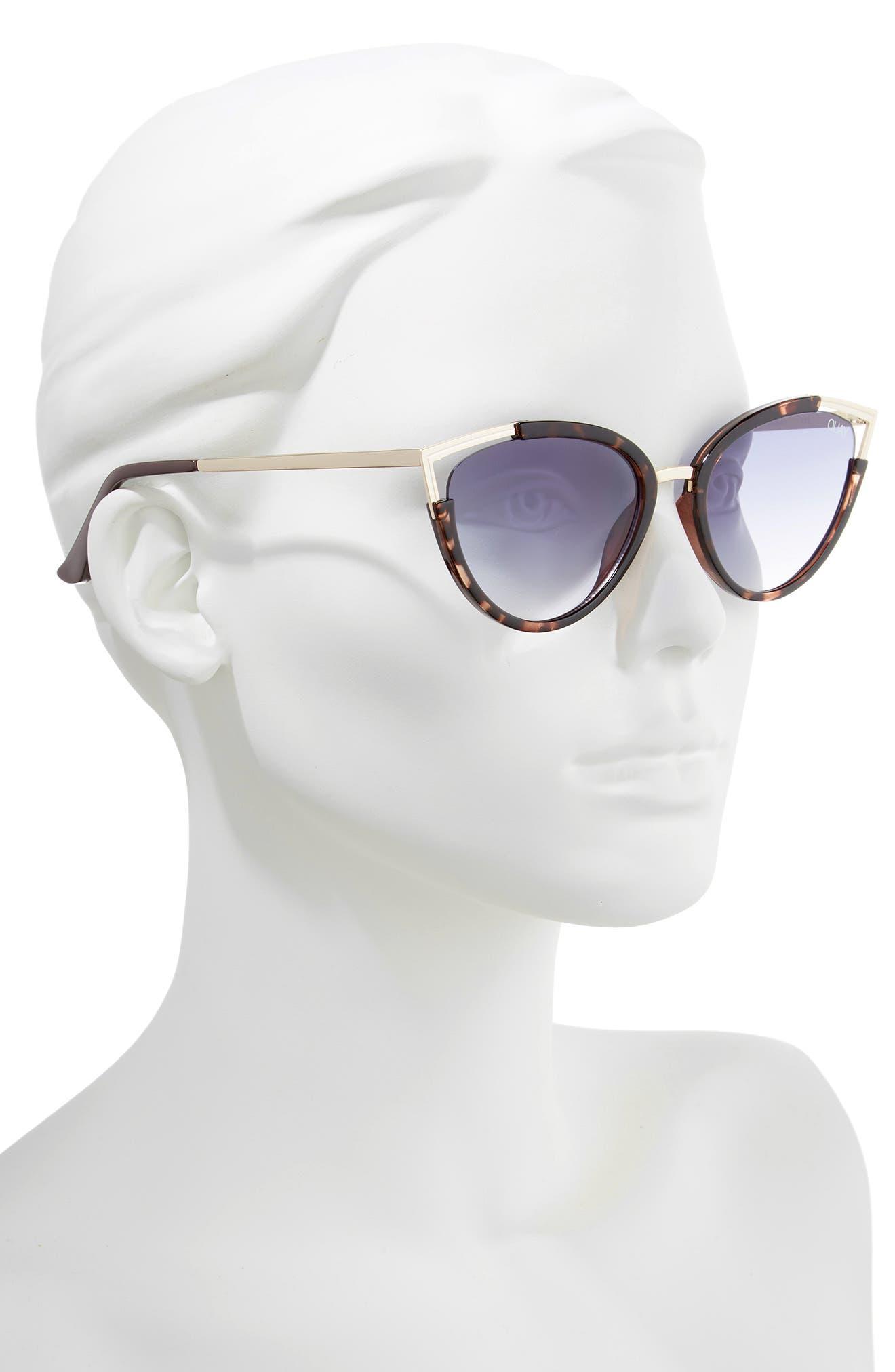 Hearsay 65mm Cat Eye Sunglasses,                             Alternate thumbnail 2, color,                             TORT/ NAVY