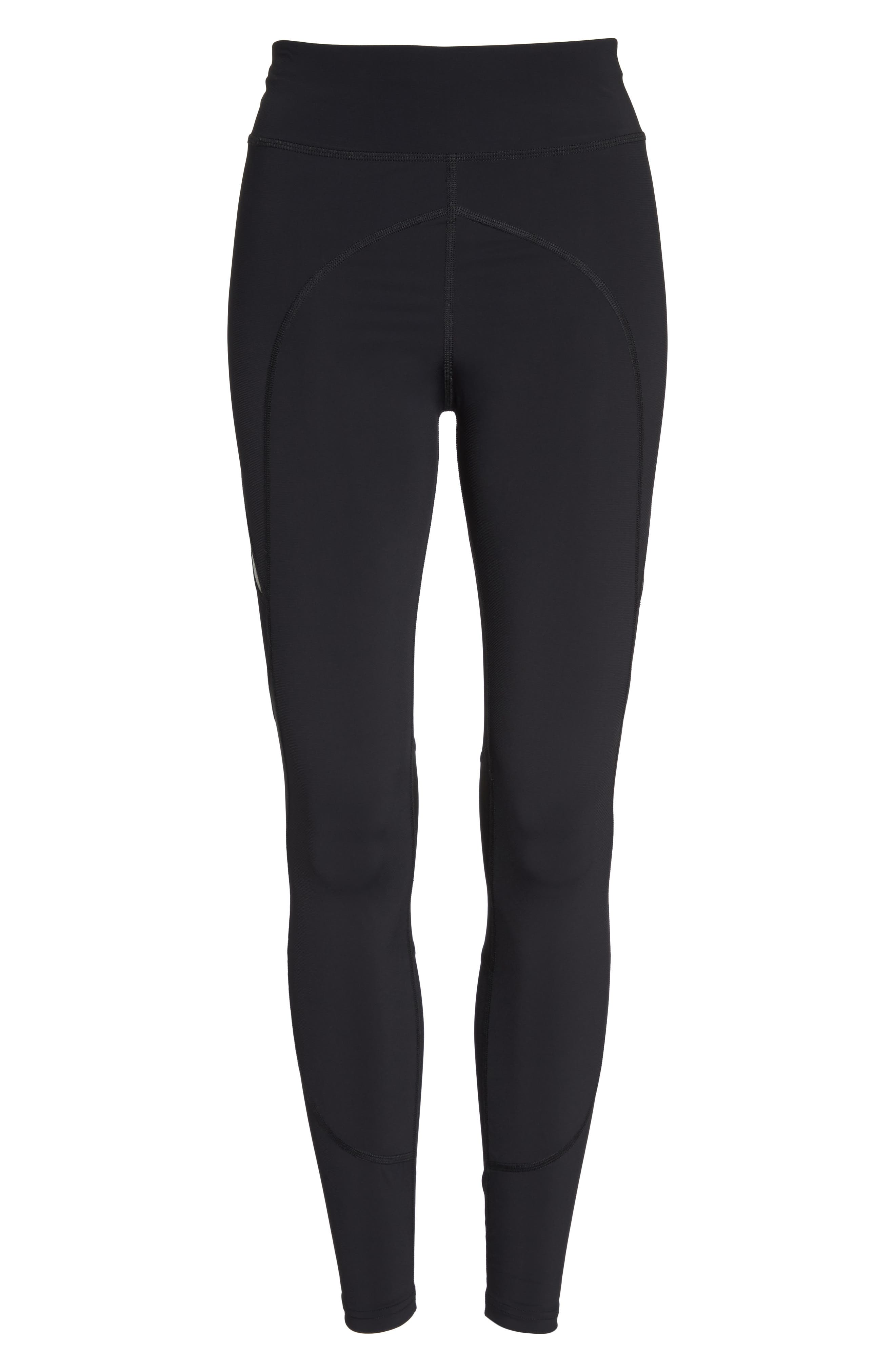 BoomBoom Athletica High Compression Sport Leggings,                             Alternate thumbnail 7, color,                             005