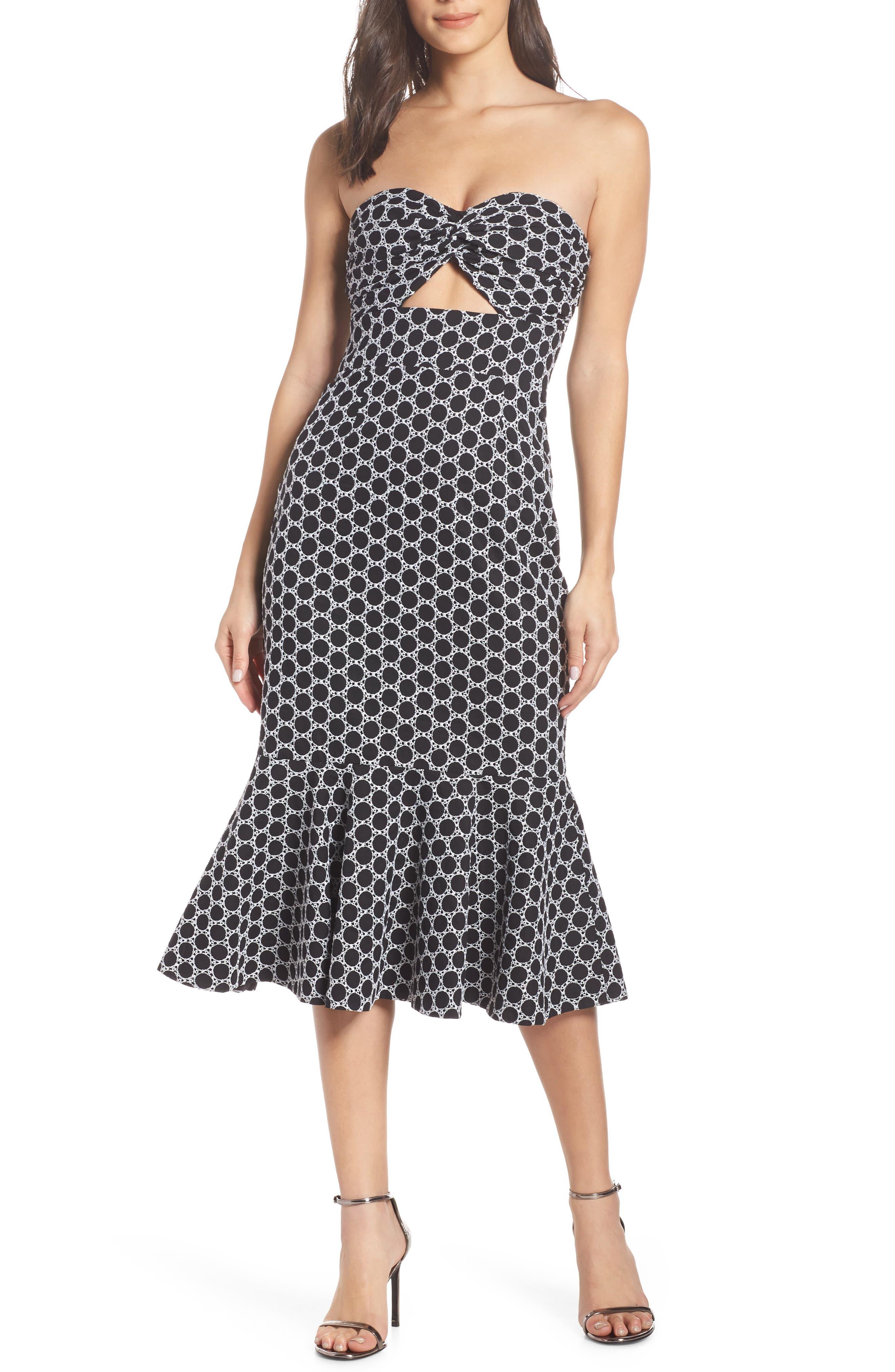 Keepsake The Label Belong Embroidered Cutout Dress, Black