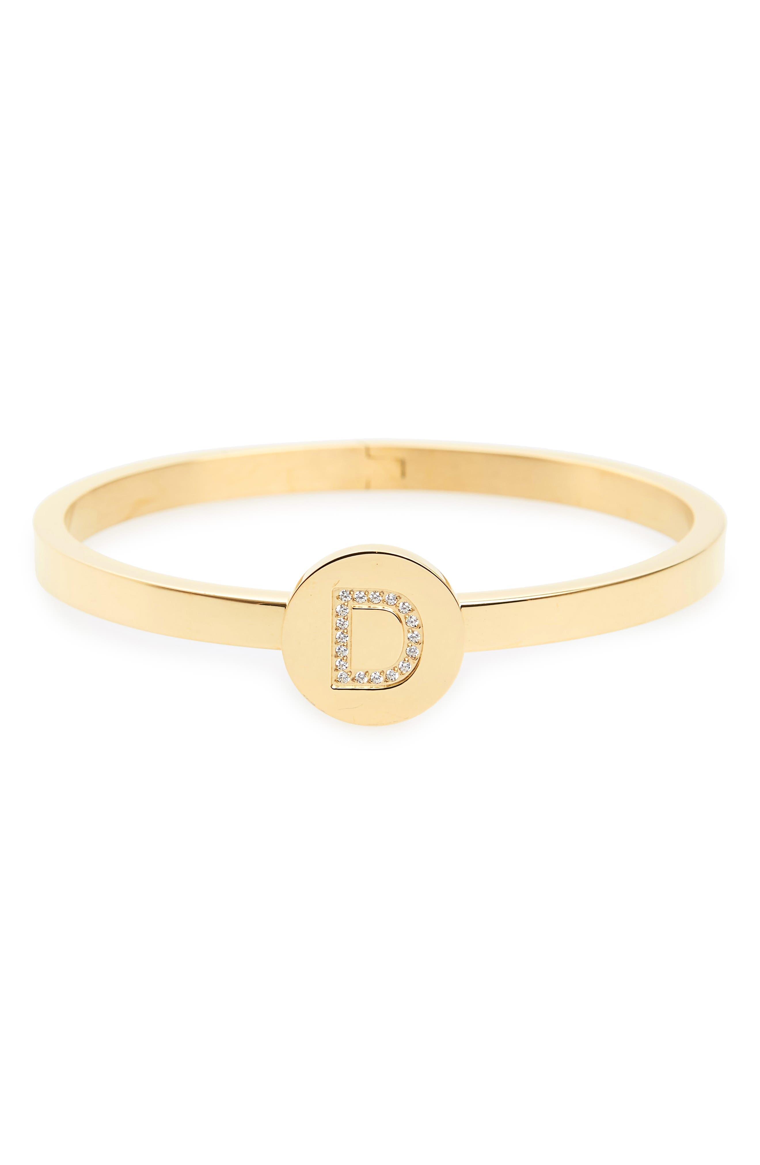 Initial Bangle Bracelet,                             Main thumbnail 4, color,
