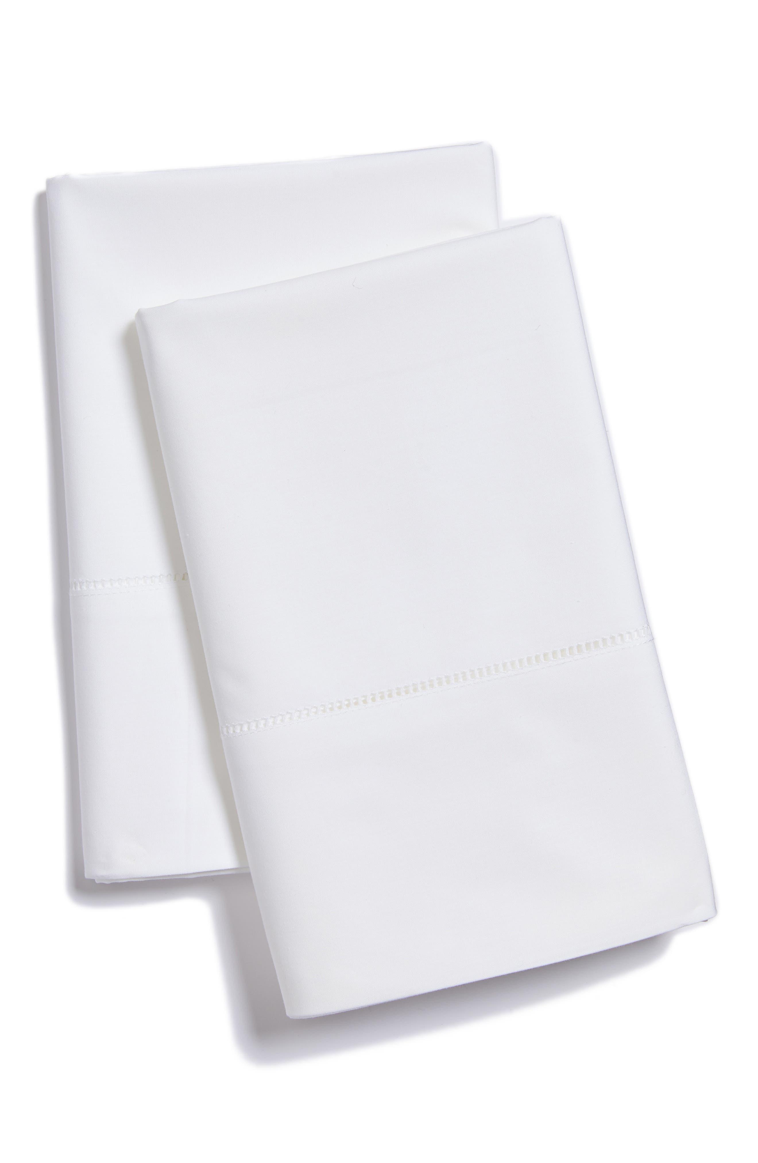 Analisa Pillowcases,                             Main thumbnail 1, color,                             WHITE