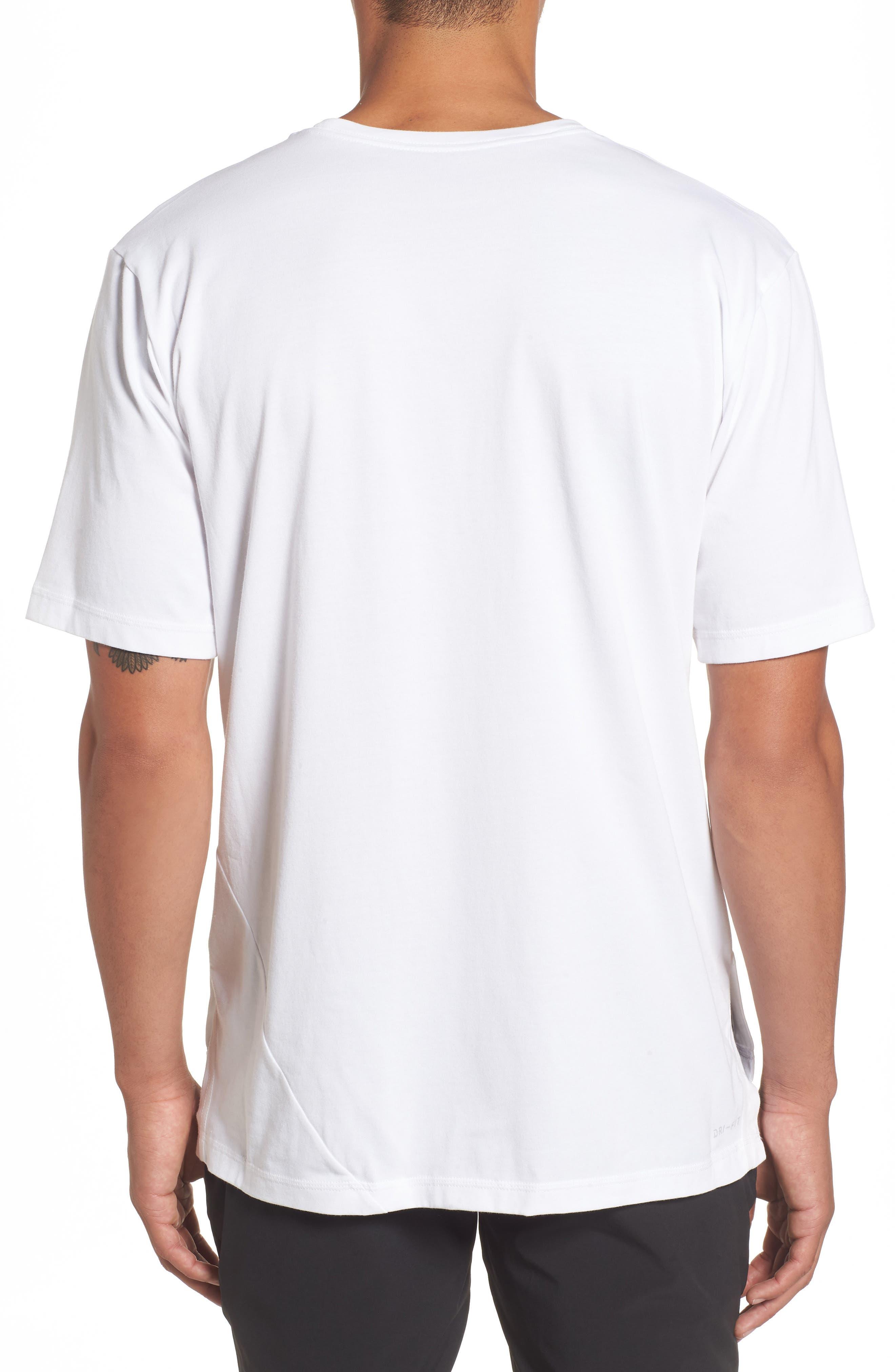 NIKE,                             Dry Performance T-Shirt,                             Alternate thumbnail 2, color,                             WHITE/ BLACK