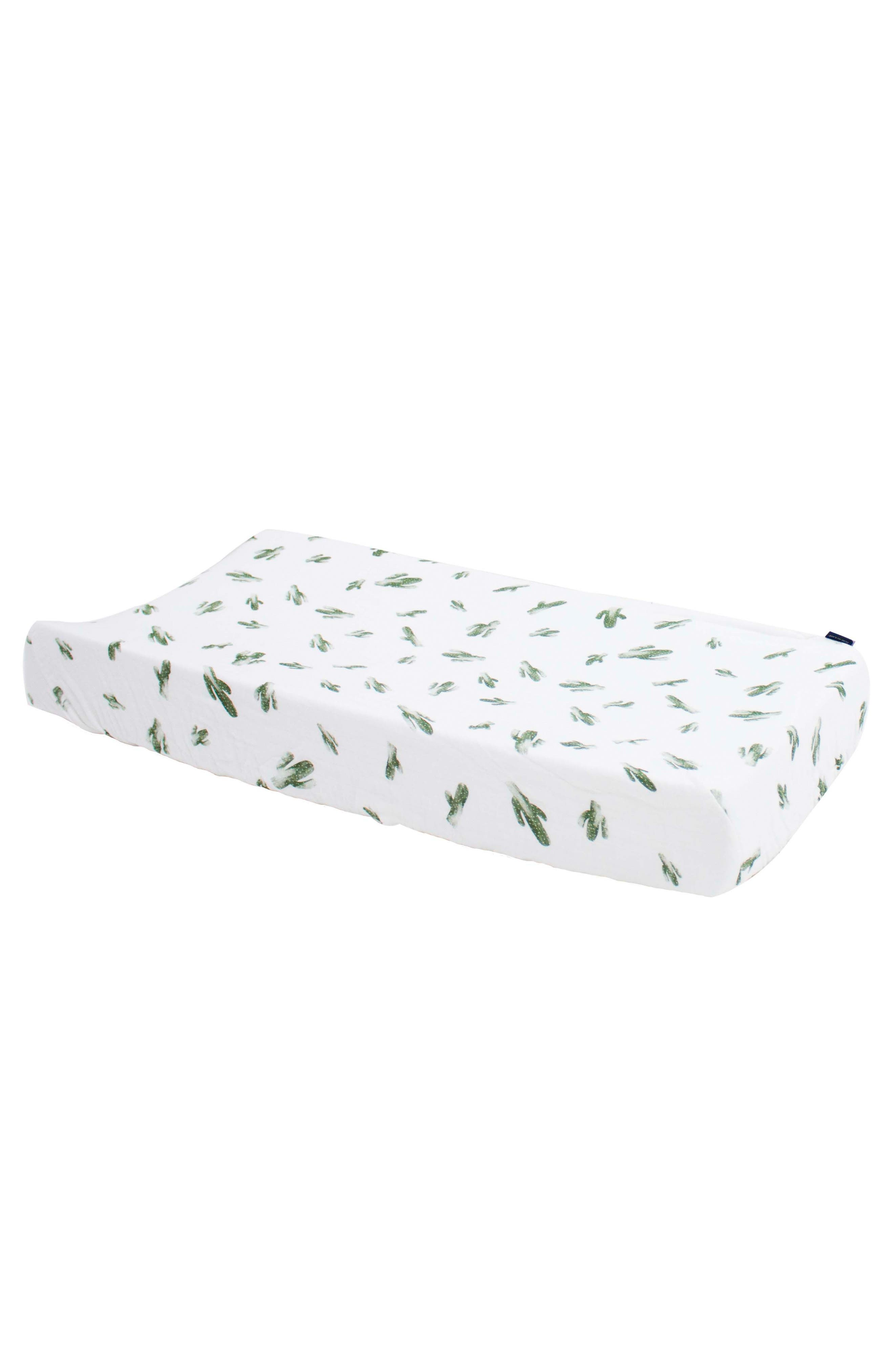 Oh So Soft Muslin Changing Pad Cover,                         Main,                         color, SAGUARO