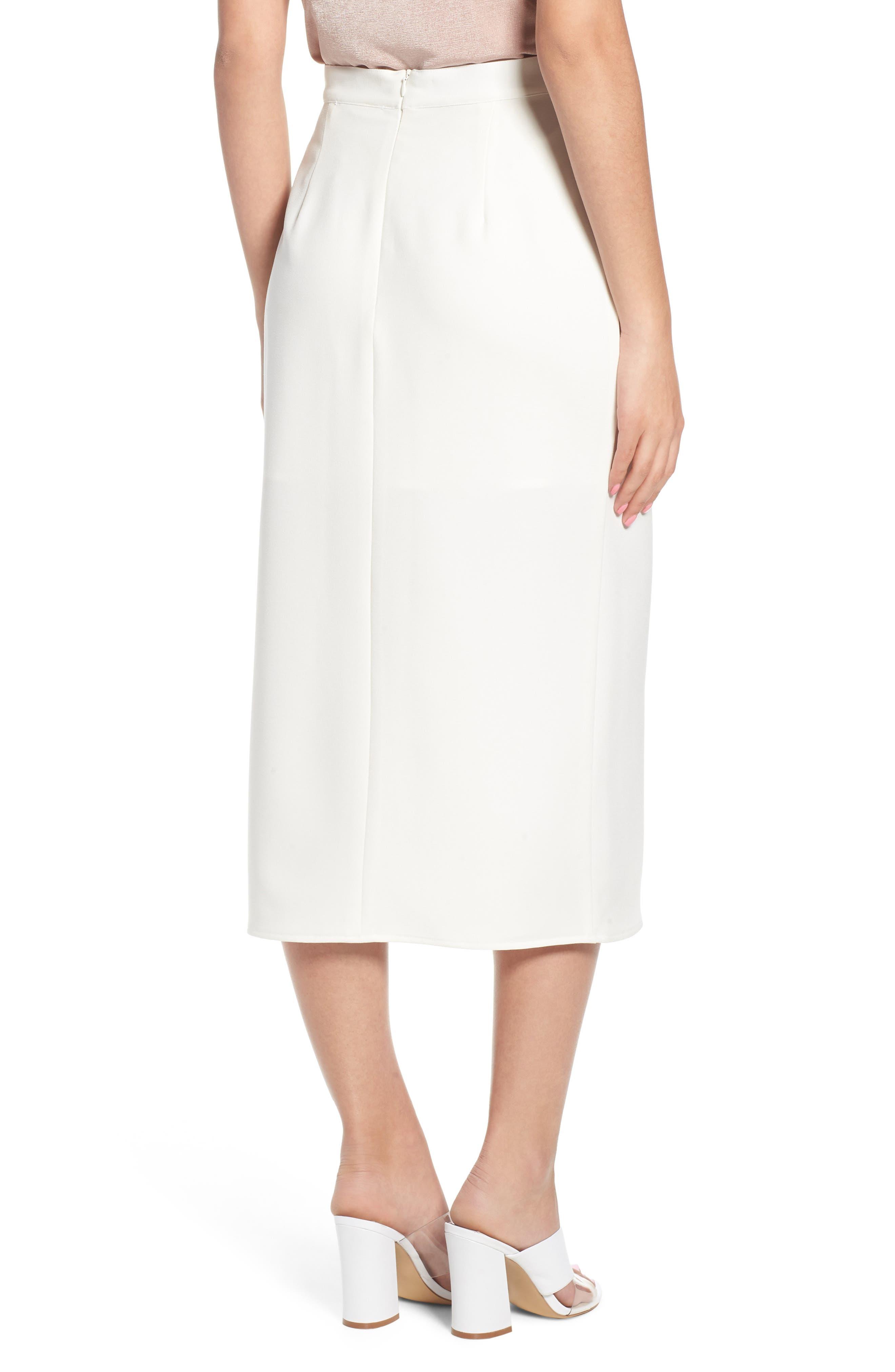 Brady Satin Midi Skirt,                             Alternate thumbnail 2, color,                             IVORY