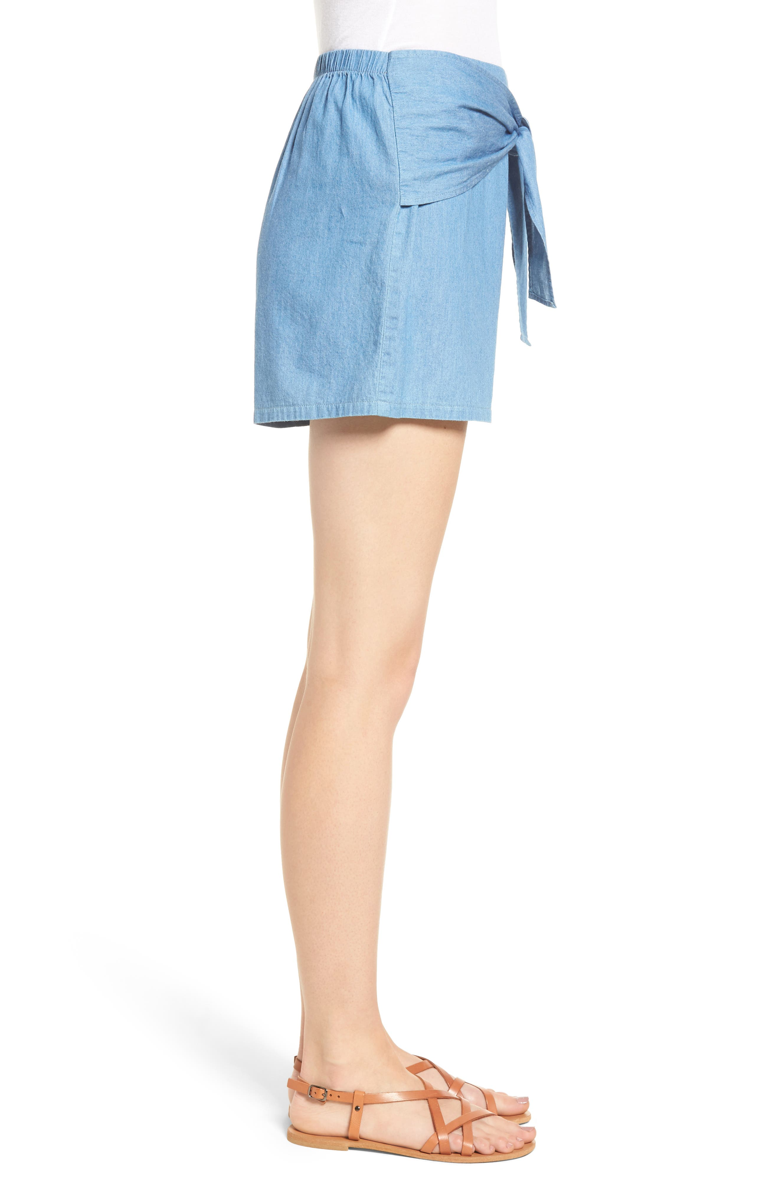 Tie Front Shorts,                             Alternate thumbnail 3, color,                             400