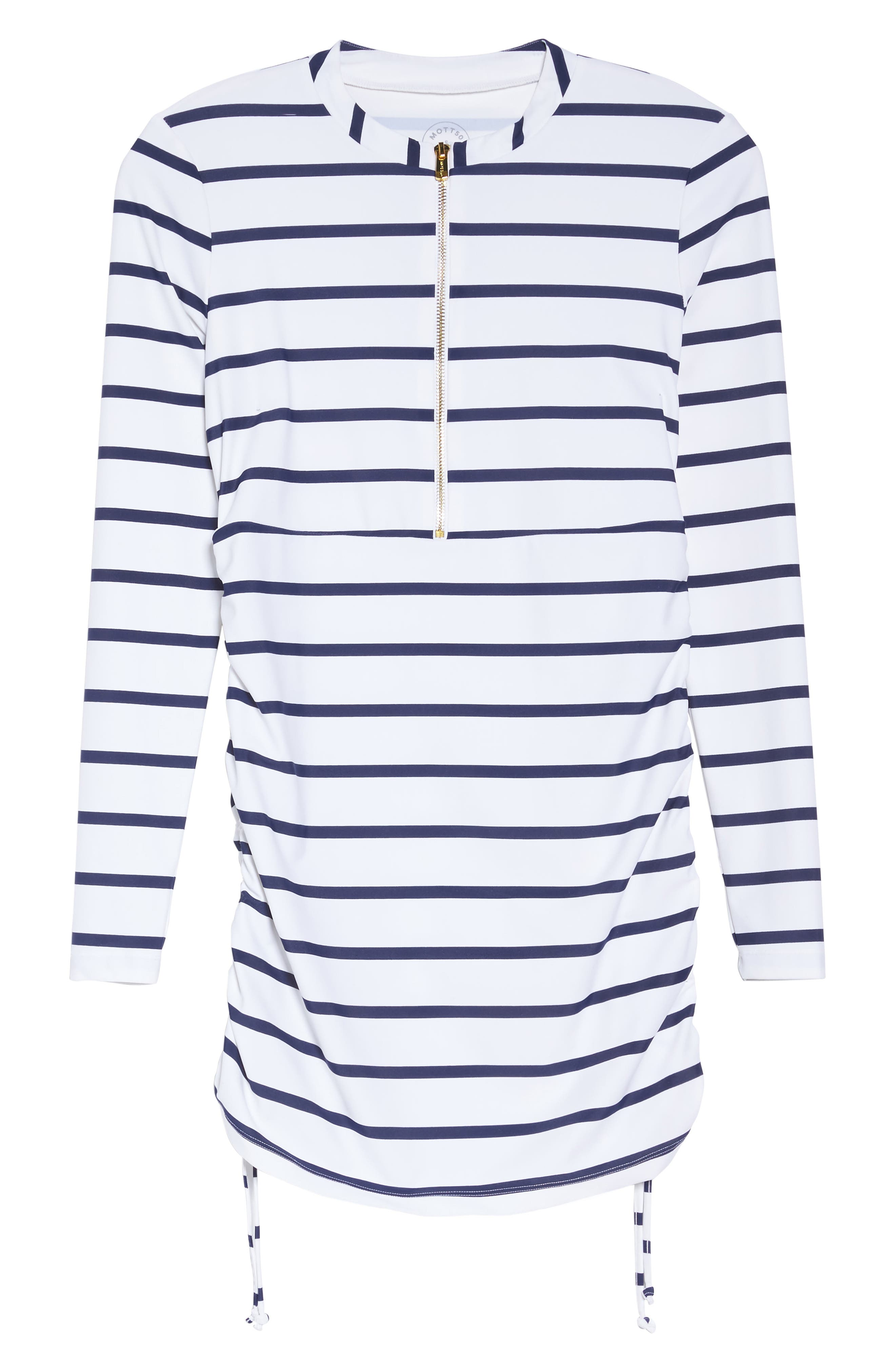 Sonja Stripe Cover-Up Swim Dress,                             Alternate thumbnail 6, color,                             400