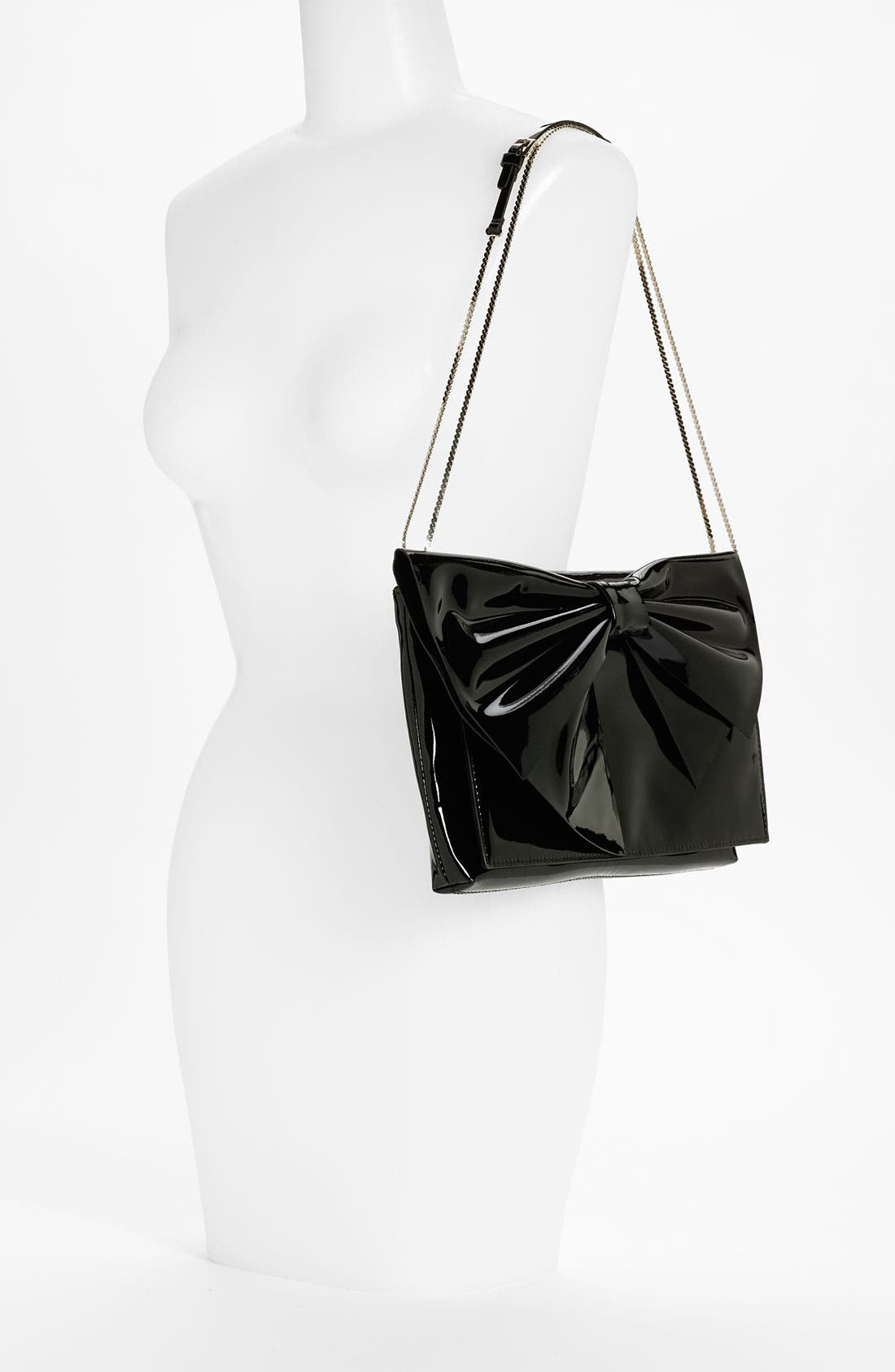 'Lacca Bow' Clutch,                             Alternate thumbnail 5, color,                             001