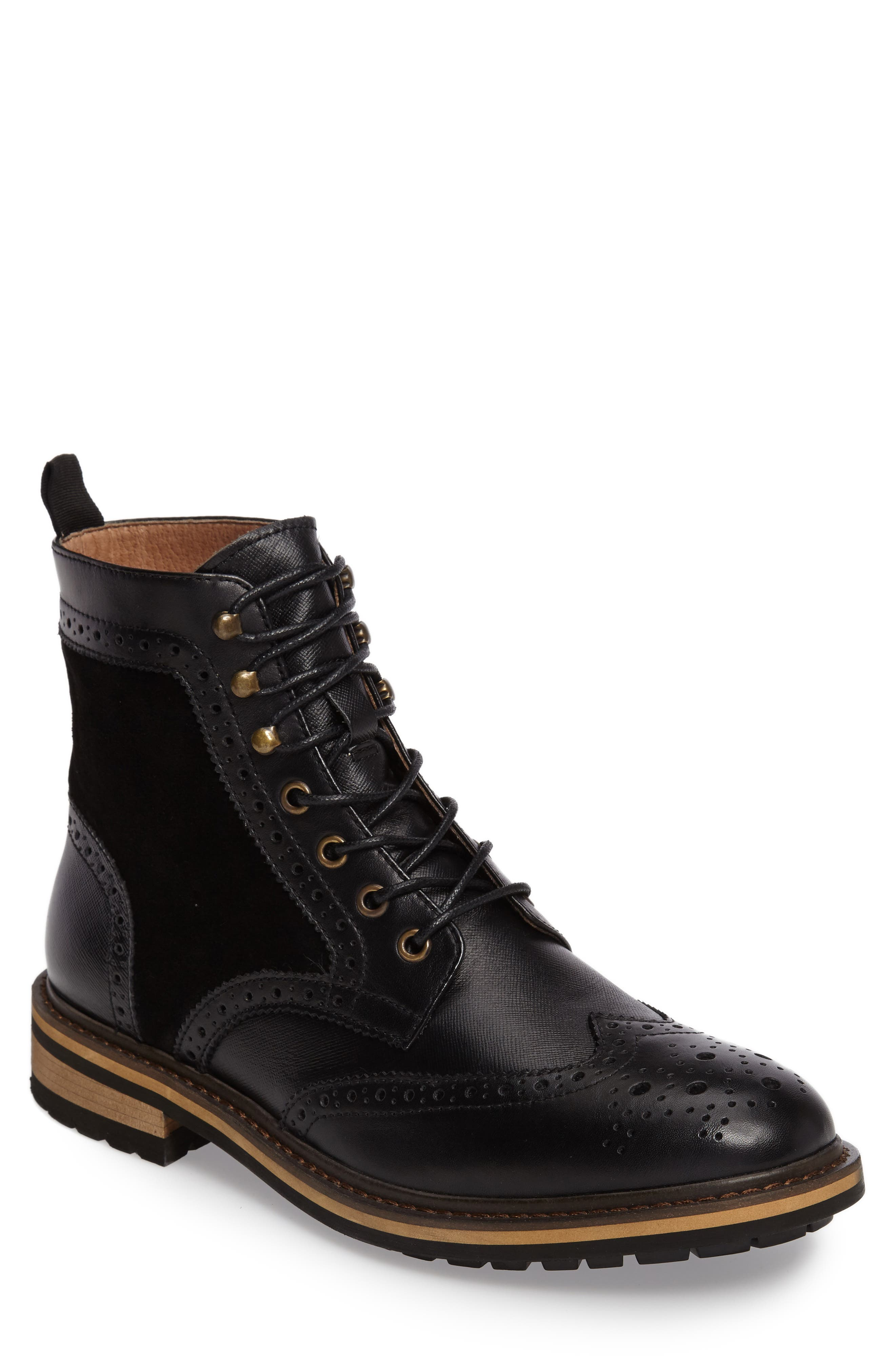 Grange Wingtip Boot,                             Main thumbnail 1, color,                             001