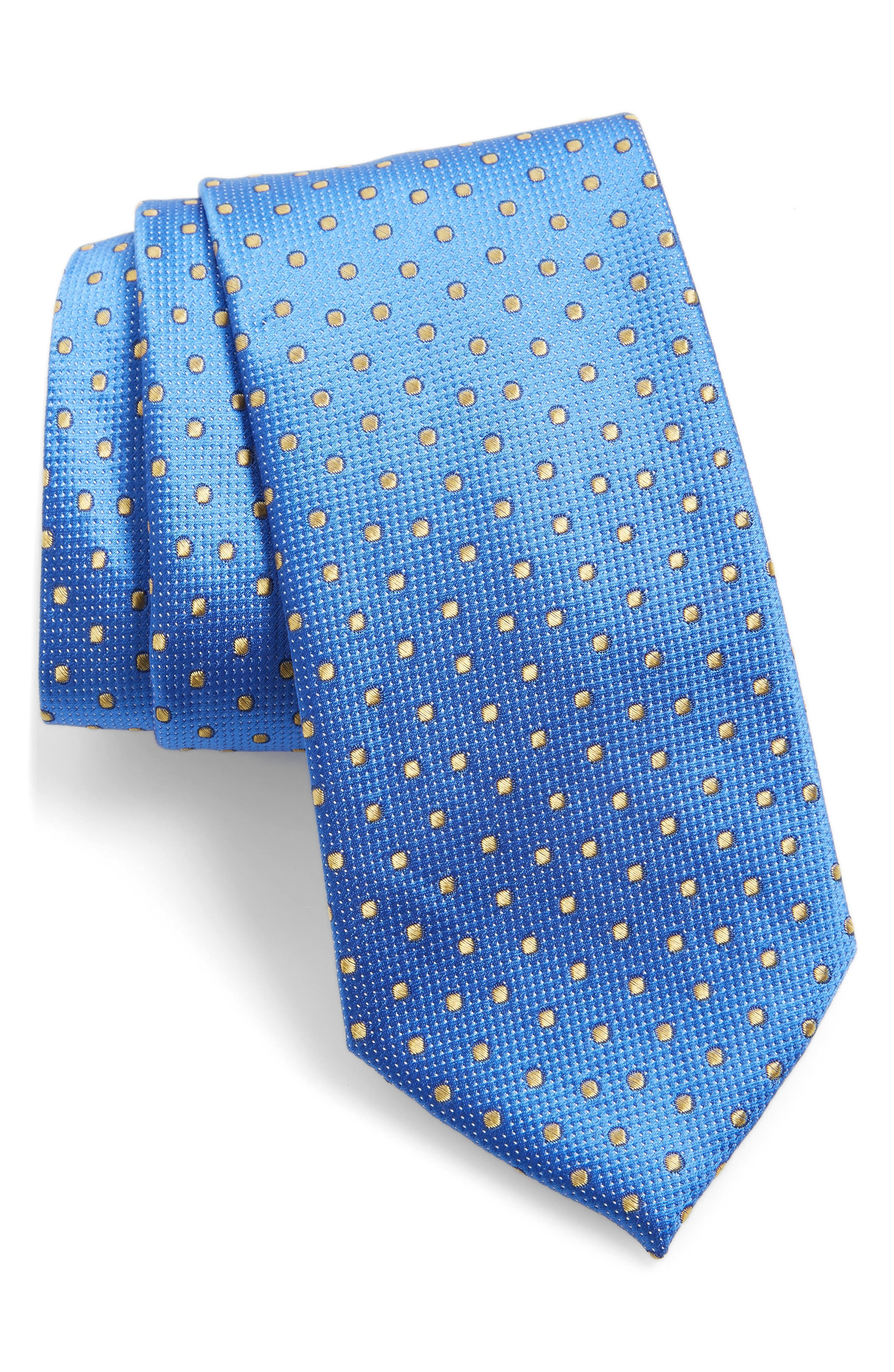 Double Dot Silk Tie,                             Main thumbnail 5, color,