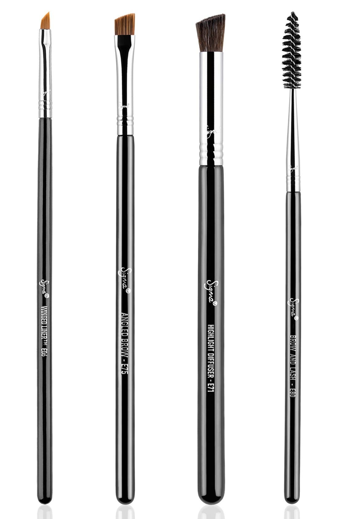 Brow Goals Brush Set,                             Main thumbnail 1, color,                             000