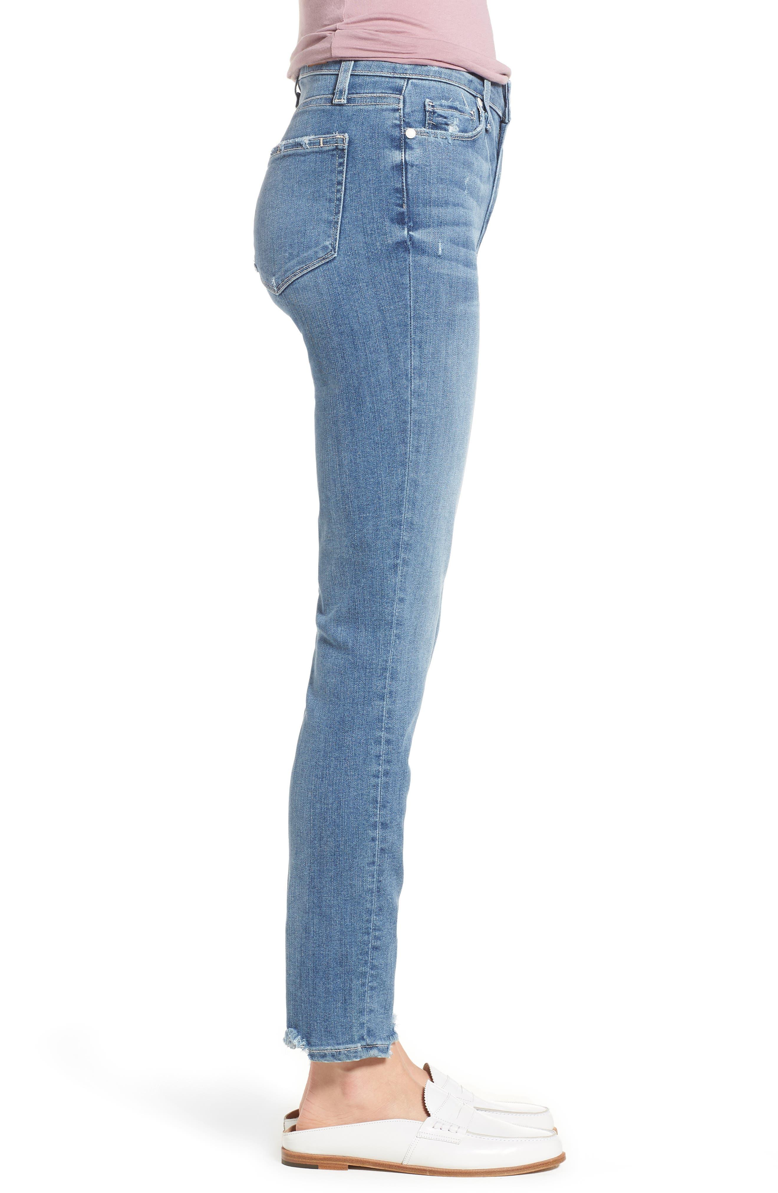 Transcend Vintage - Hoxton High Waist Ankle Skinny Jeans,                             Alternate thumbnail 3, color,                             ZAHARA