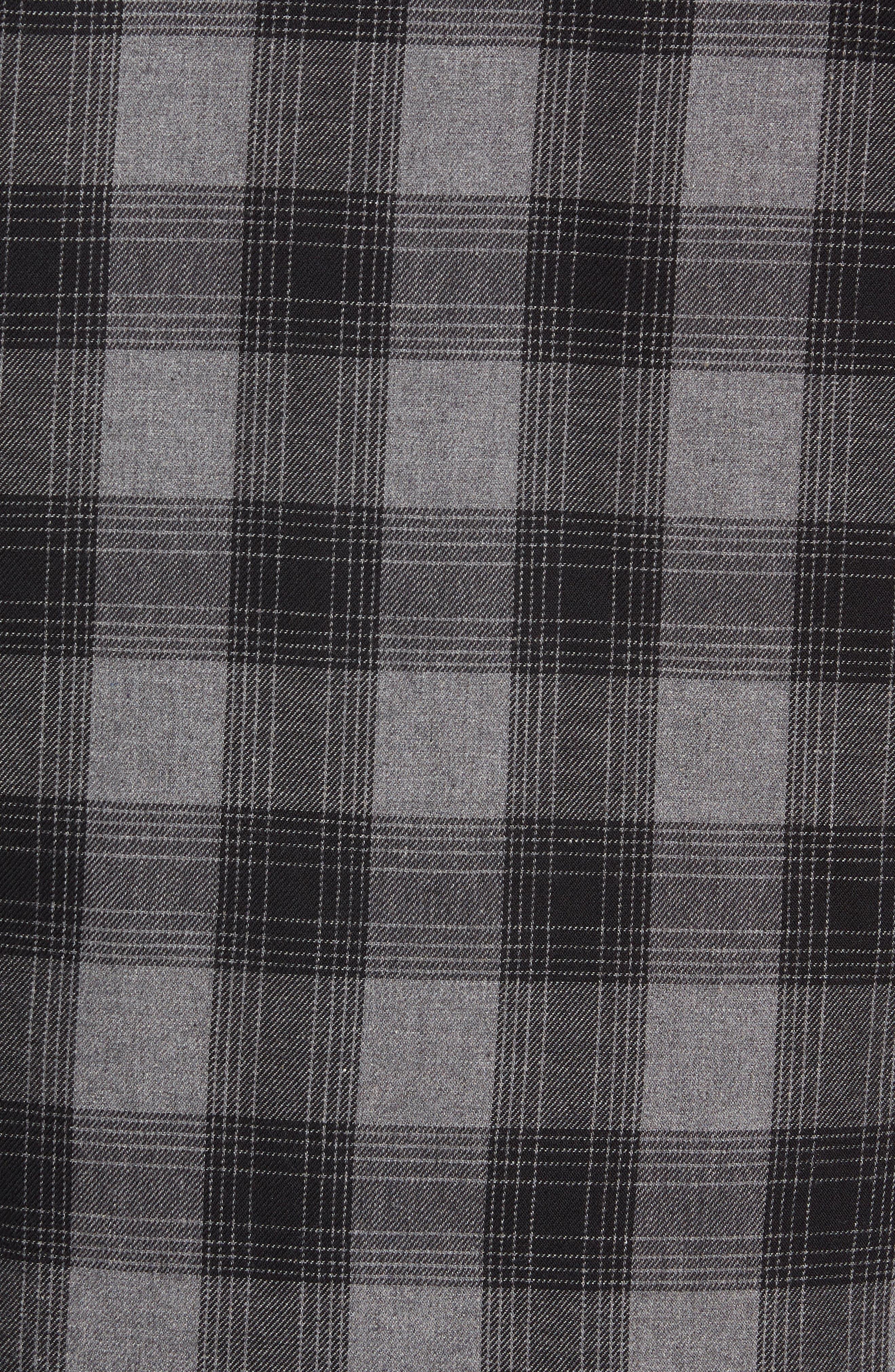 VANS,                             Parnell Plaid Shirt Jacket,                             Alternate thumbnail 7, color,                             GRAVEL HEATHER