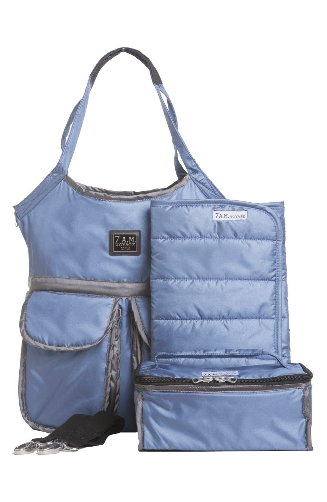 'Barcelona' Diaper Bag,                             Alternate thumbnail 21, color,