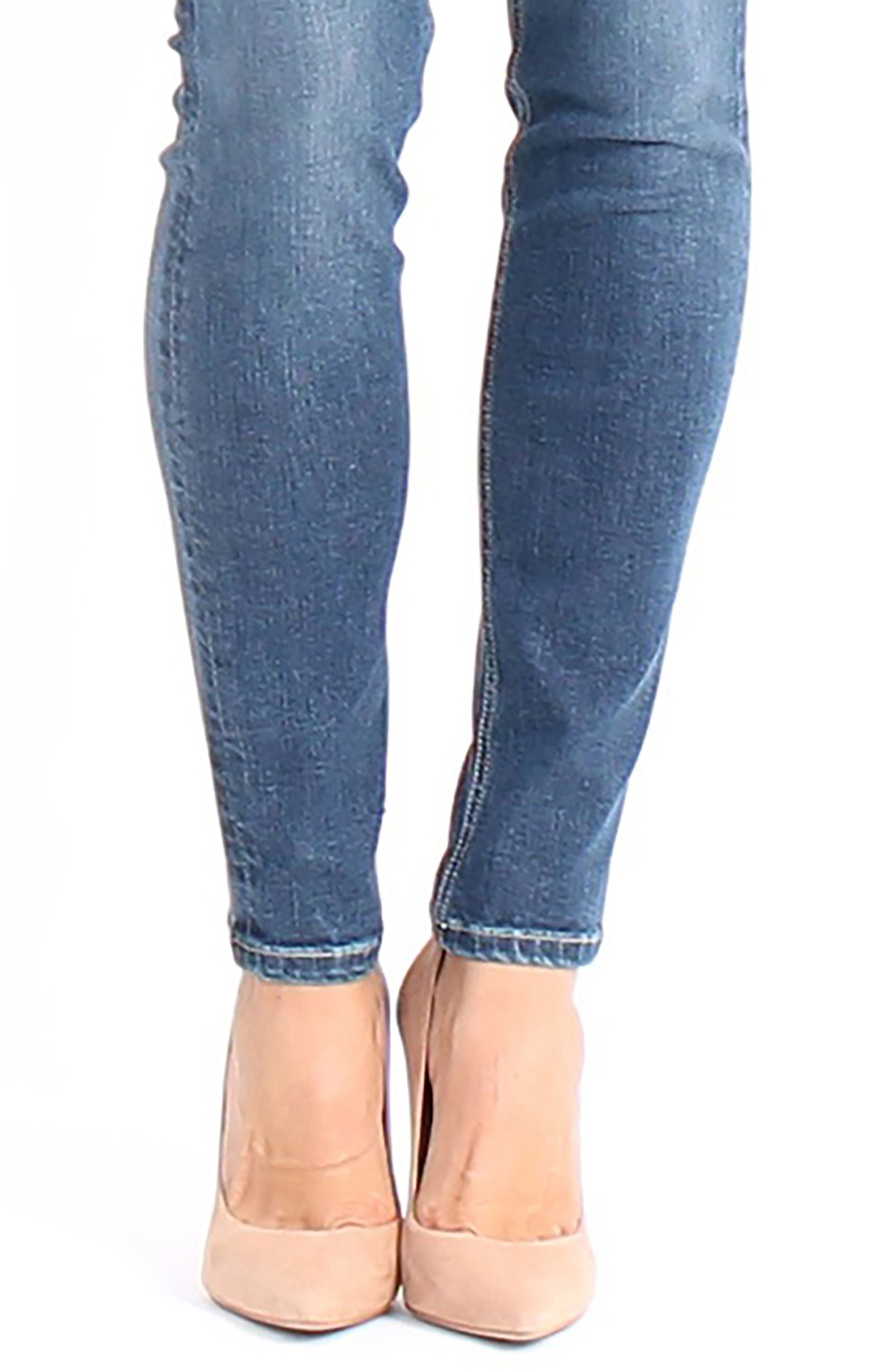 Lisa Stretch Distressed Super Skinny Jeans,                             Alternate thumbnail 4, color,                             472