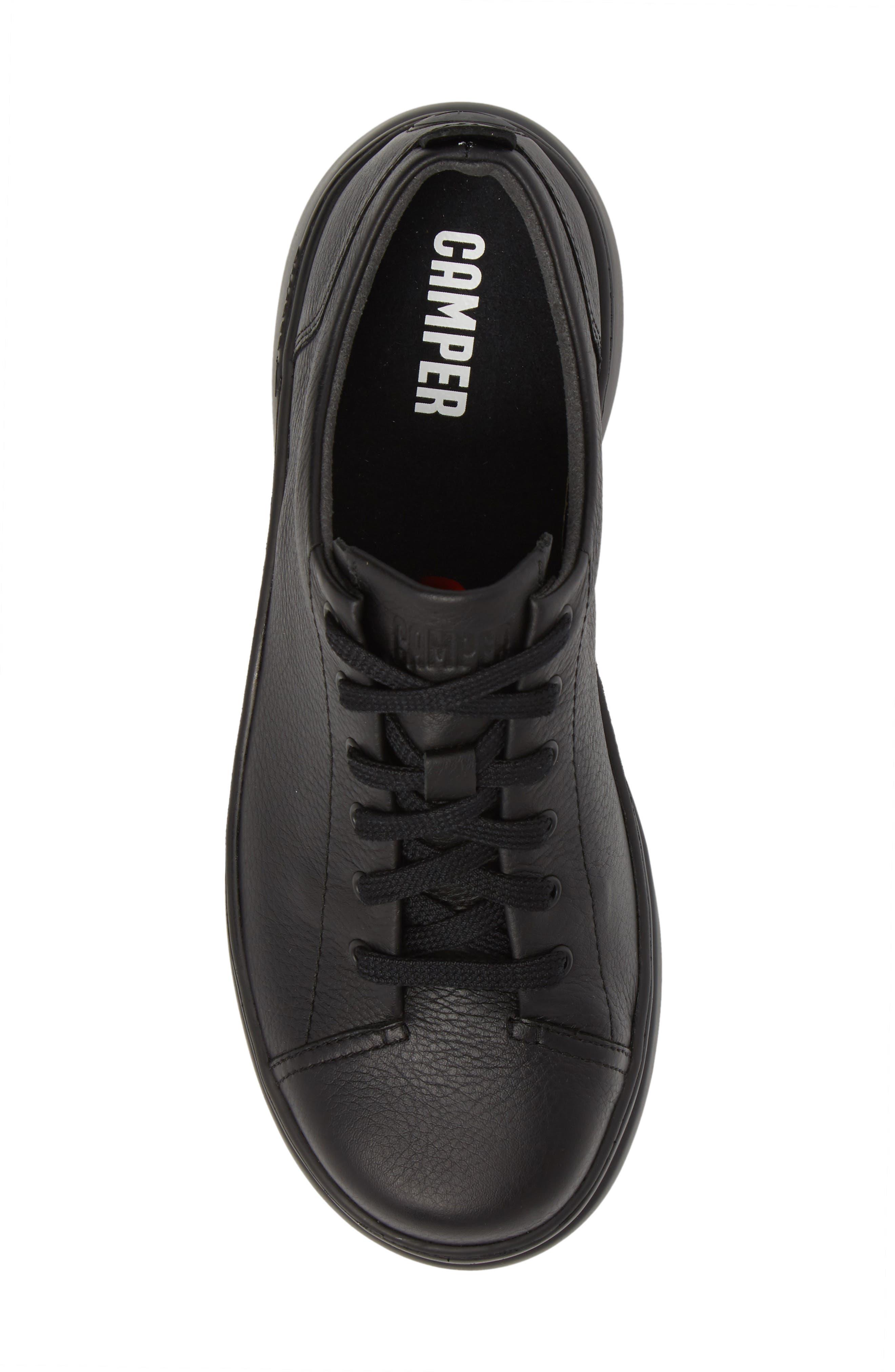 Runner Up Sneaker,                             Alternate thumbnail 5, color,                             BLACK LEATHER