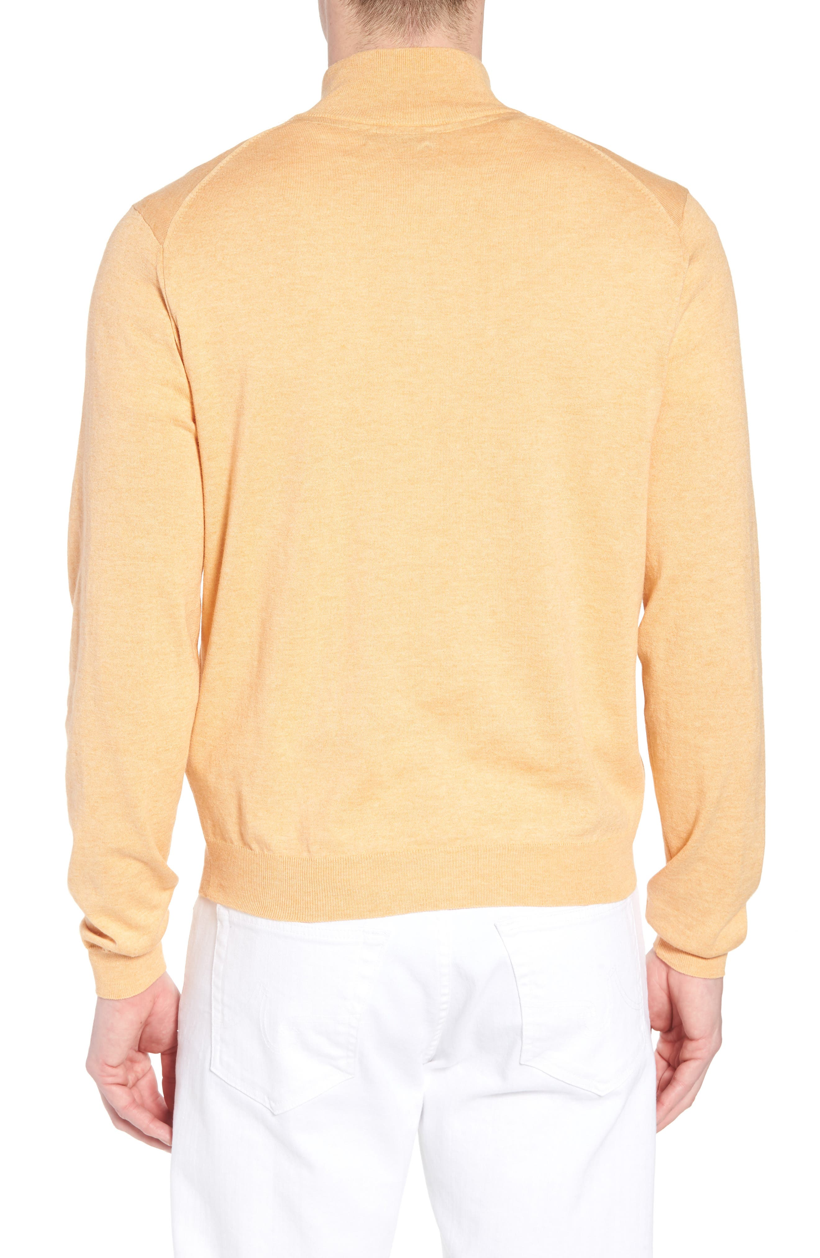 Cotton & Silk Quarter Zip Pullover,                             Alternate thumbnail 2, color,                             830