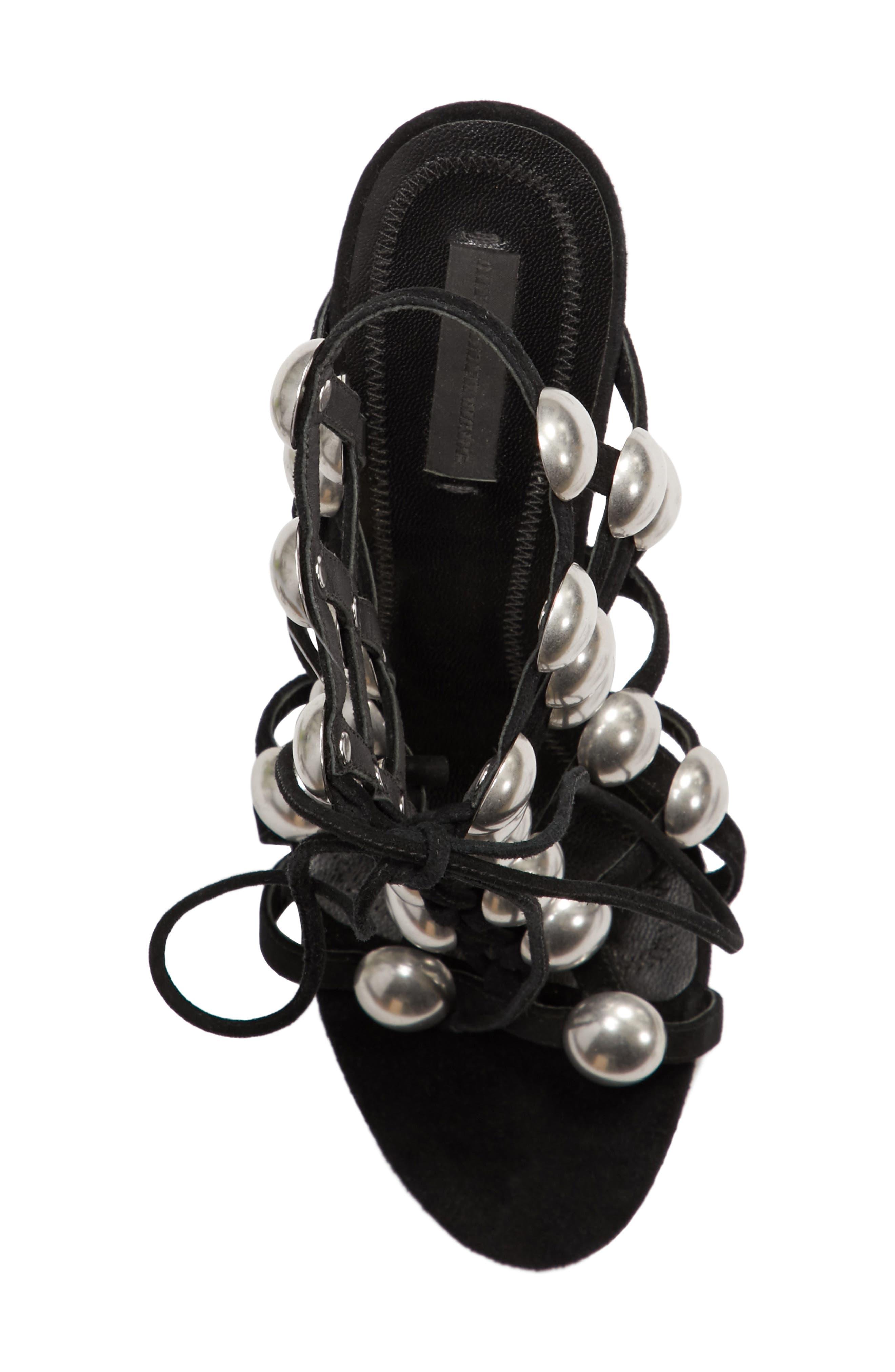 Rubie Studded Sandal,                             Alternate thumbnail 5, color,                             001
