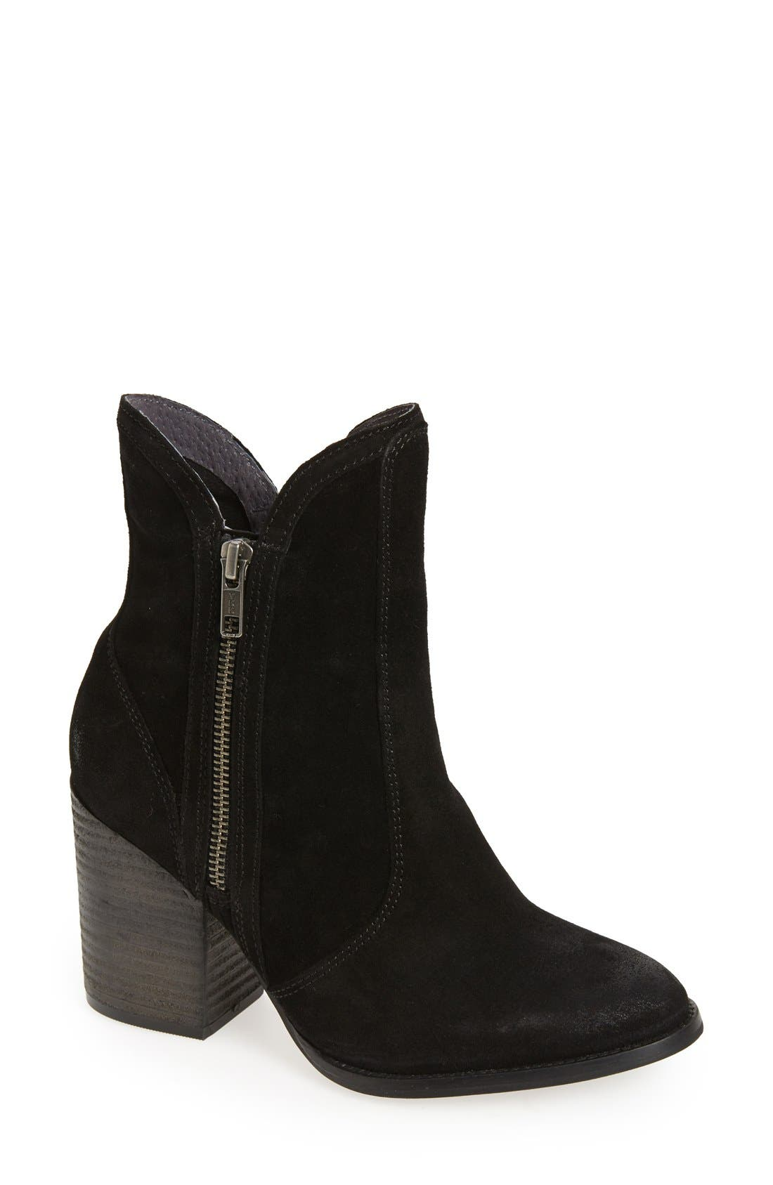 Lori Block Heel Western Bootie,                         Main,                         color, 001