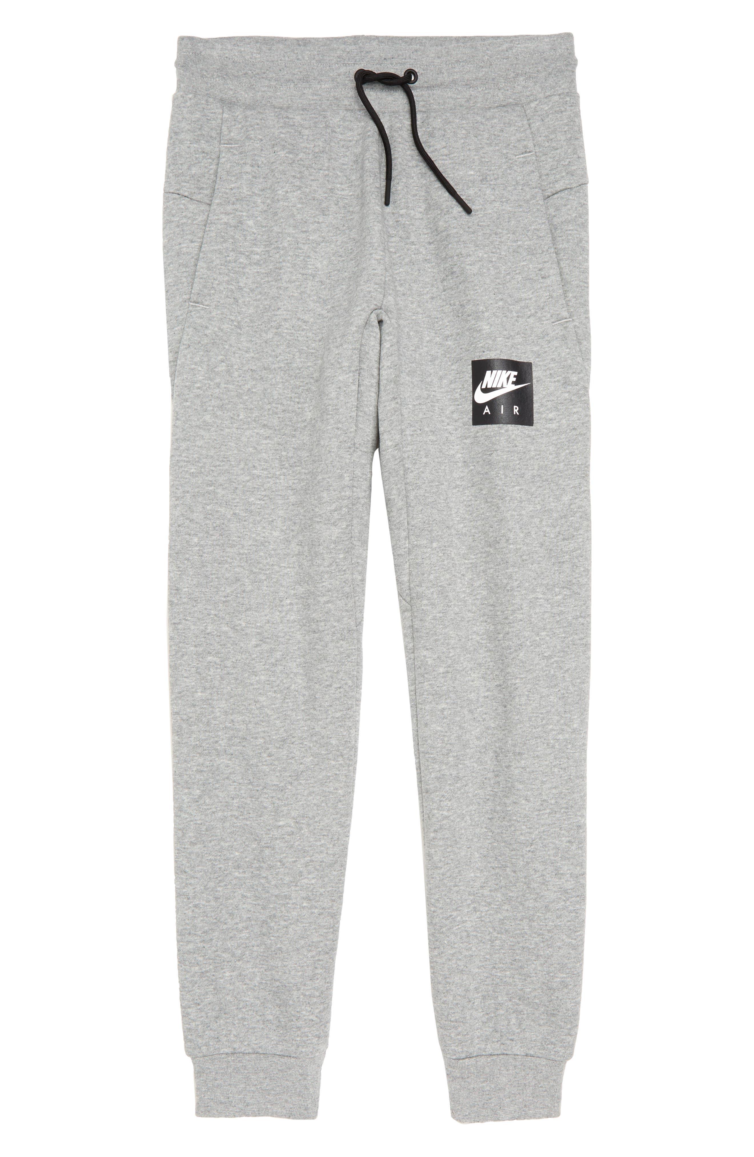 Air Fleece Jogger Pants,                             Main thumbnail 1, color,                             DARK GREY HEATHER