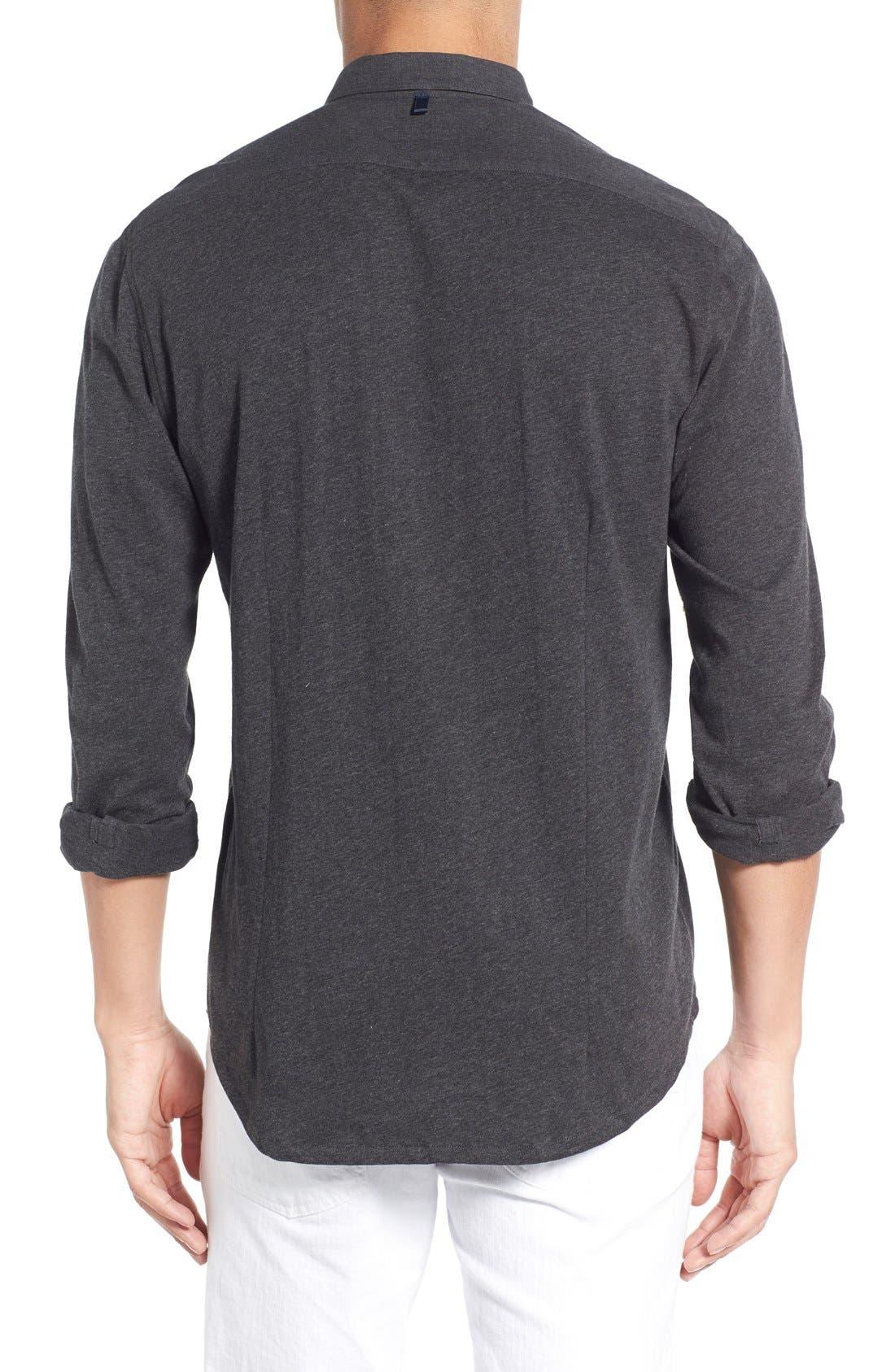 'Reworked' Trim Fit Sport Shirt,                             Alternate thumbnail 4, color,                             010
