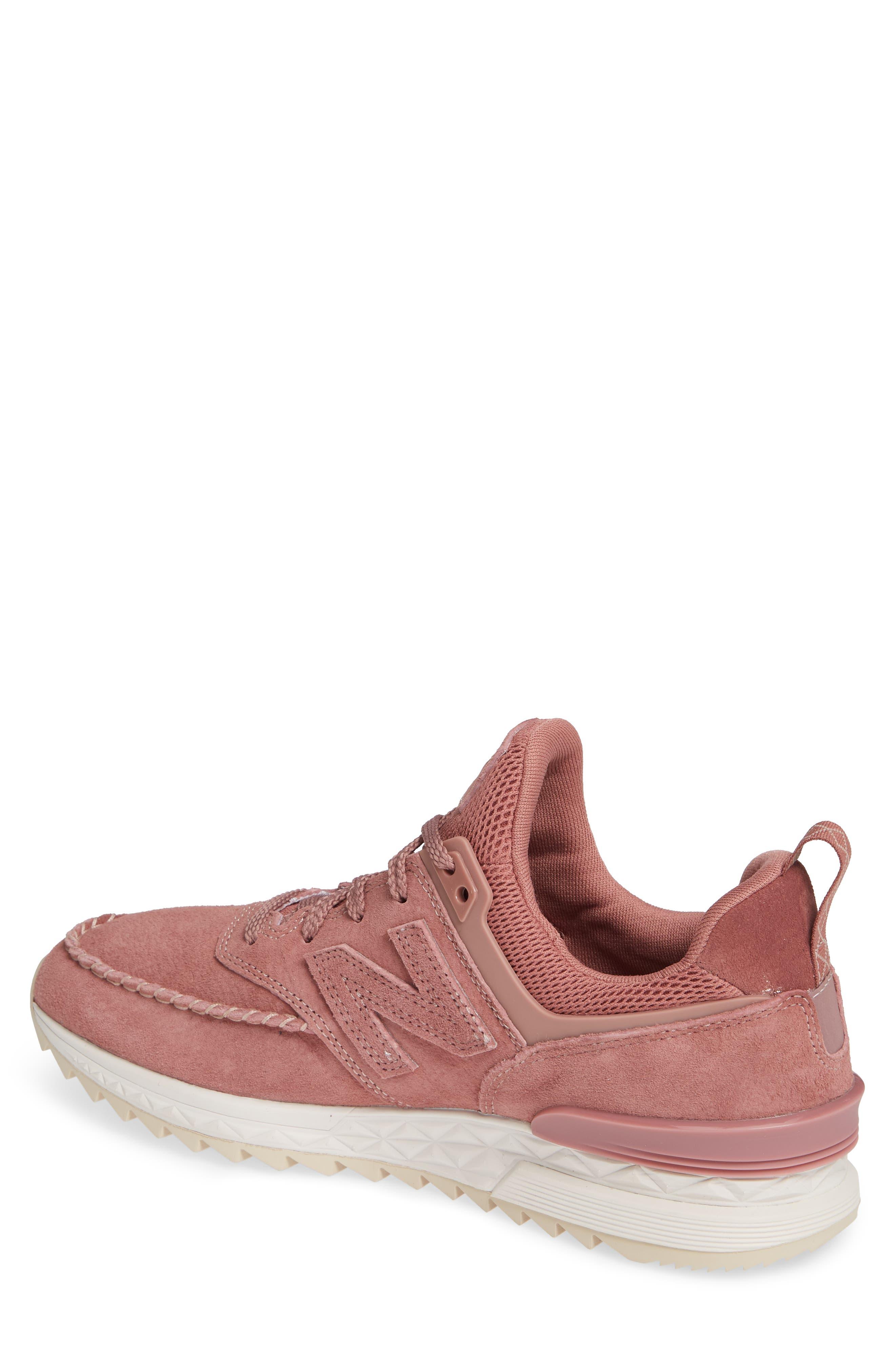 574 Sport Sneaker,                             Alternate thumbnail 2, color,                             DARK OXIDE SUEDE/ MESH