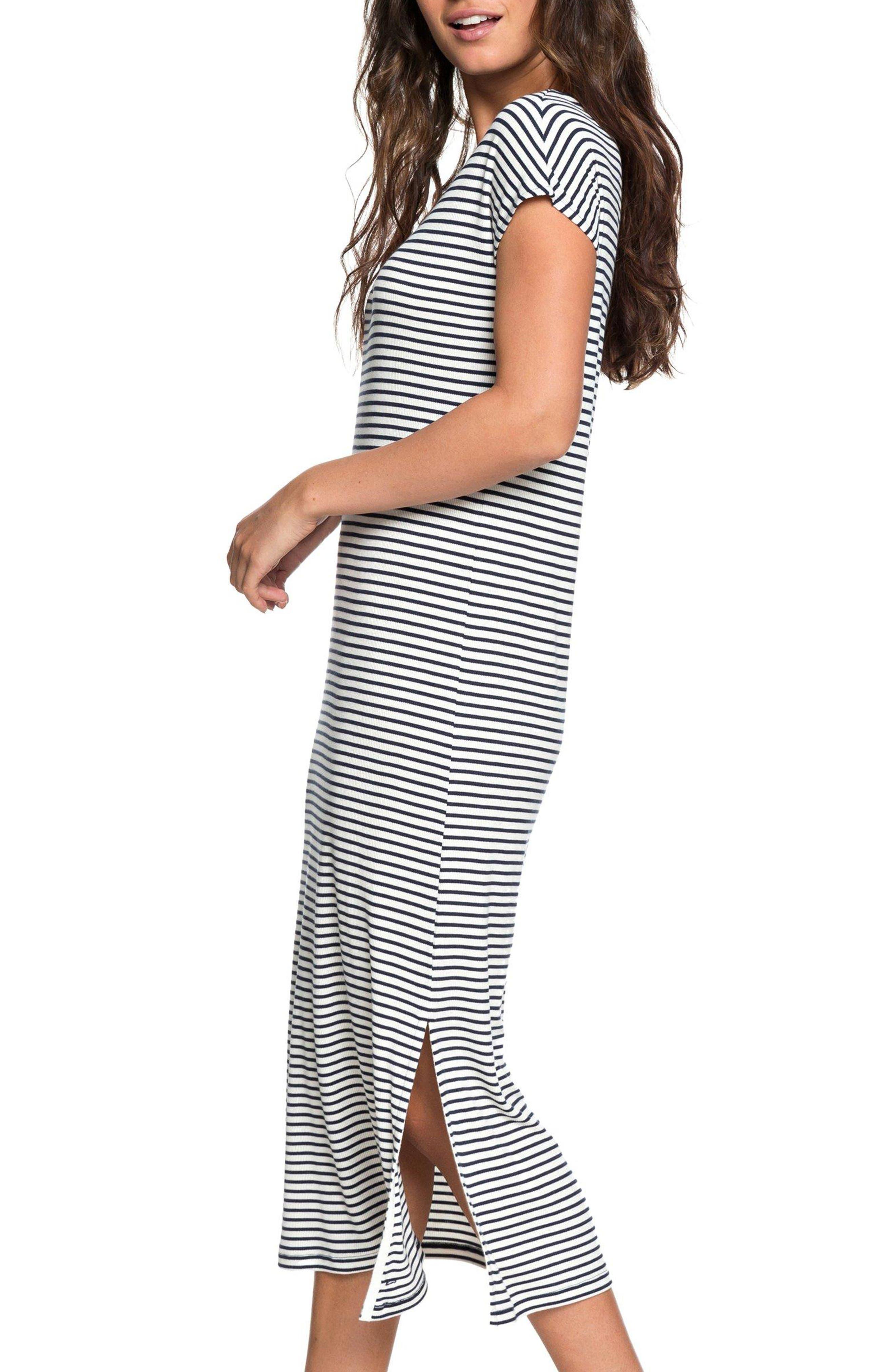 Make It New Stripe Midi Dress,                             Alternate thumbnail 3, color,                             100