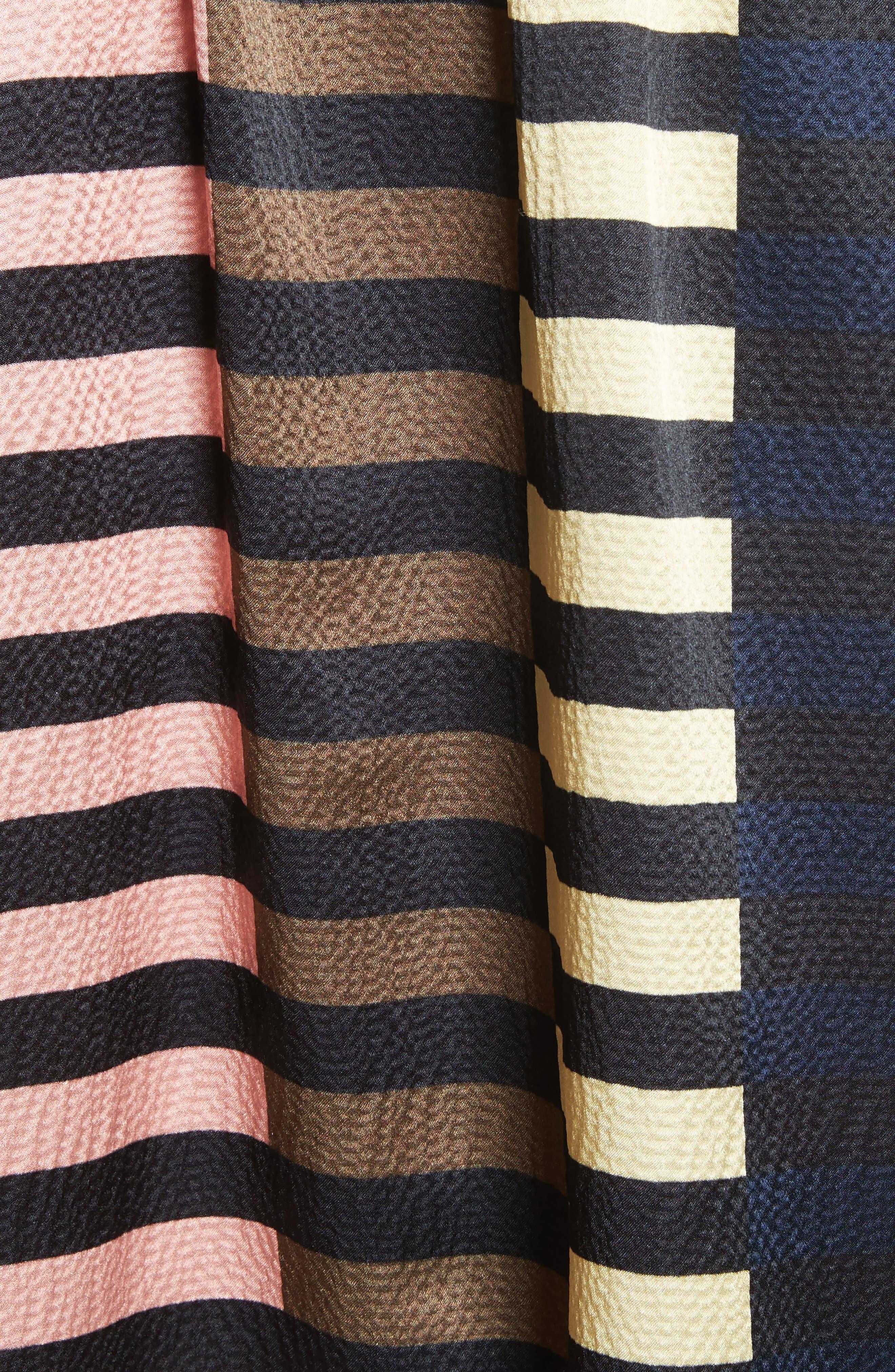 Nuevo Bravo Stripe Silk Top,                             Alternate thumbnail 5, color,                             001