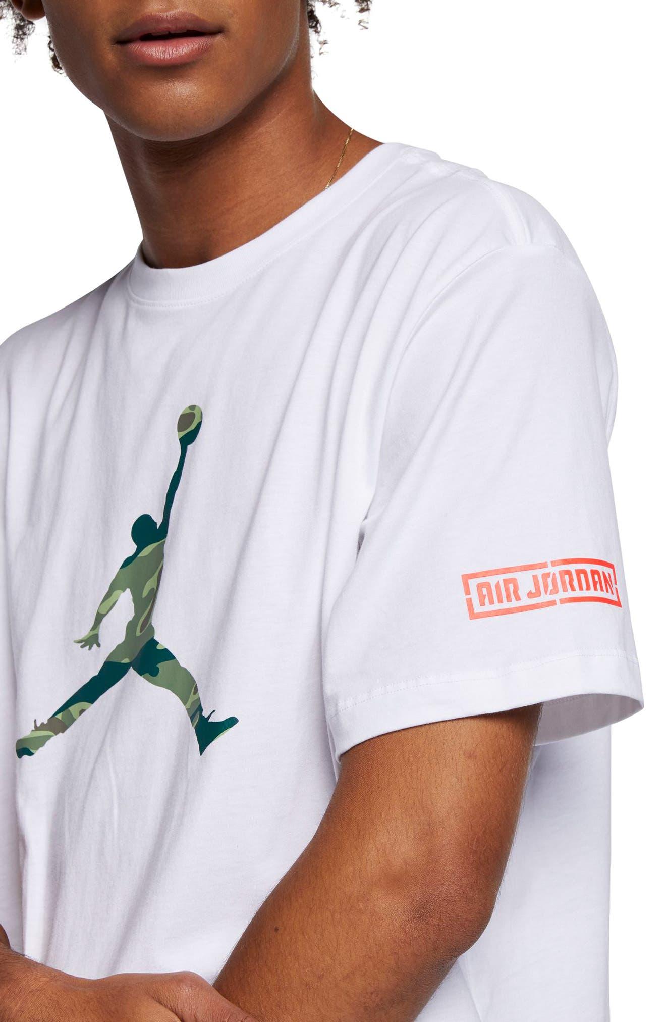 Jordan Camo Jumpman T-Shirt, White