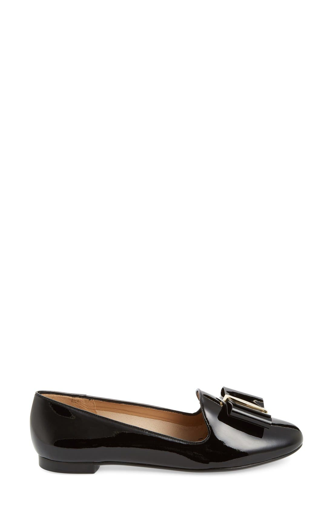 Bow Smoking Loafer,                             Alternate thumbnail 4, color,                             001