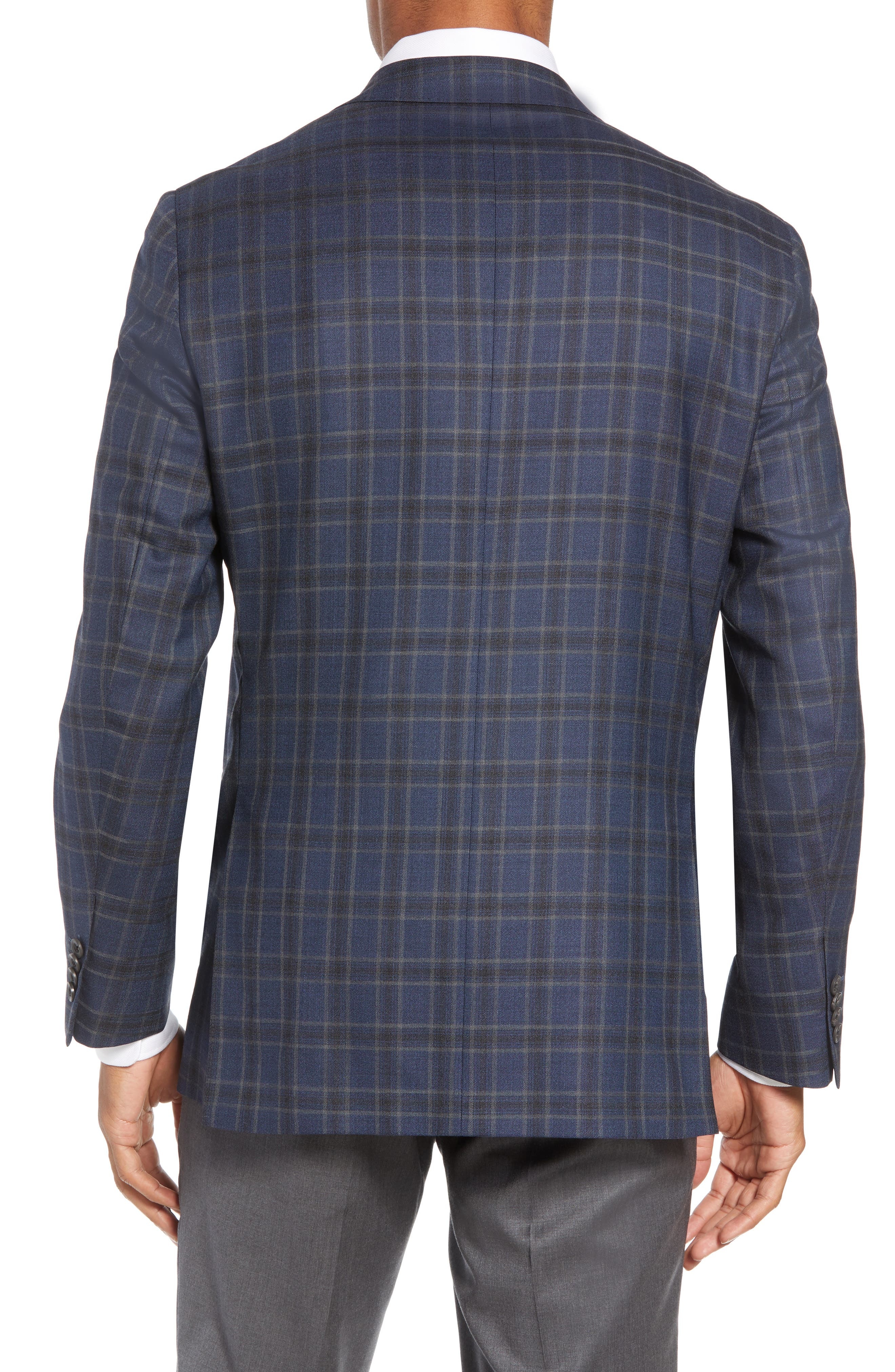 Arnold Classic Fit Plaid Wool Sport Coat,                             Alternate thumbnail 2, color,                             400