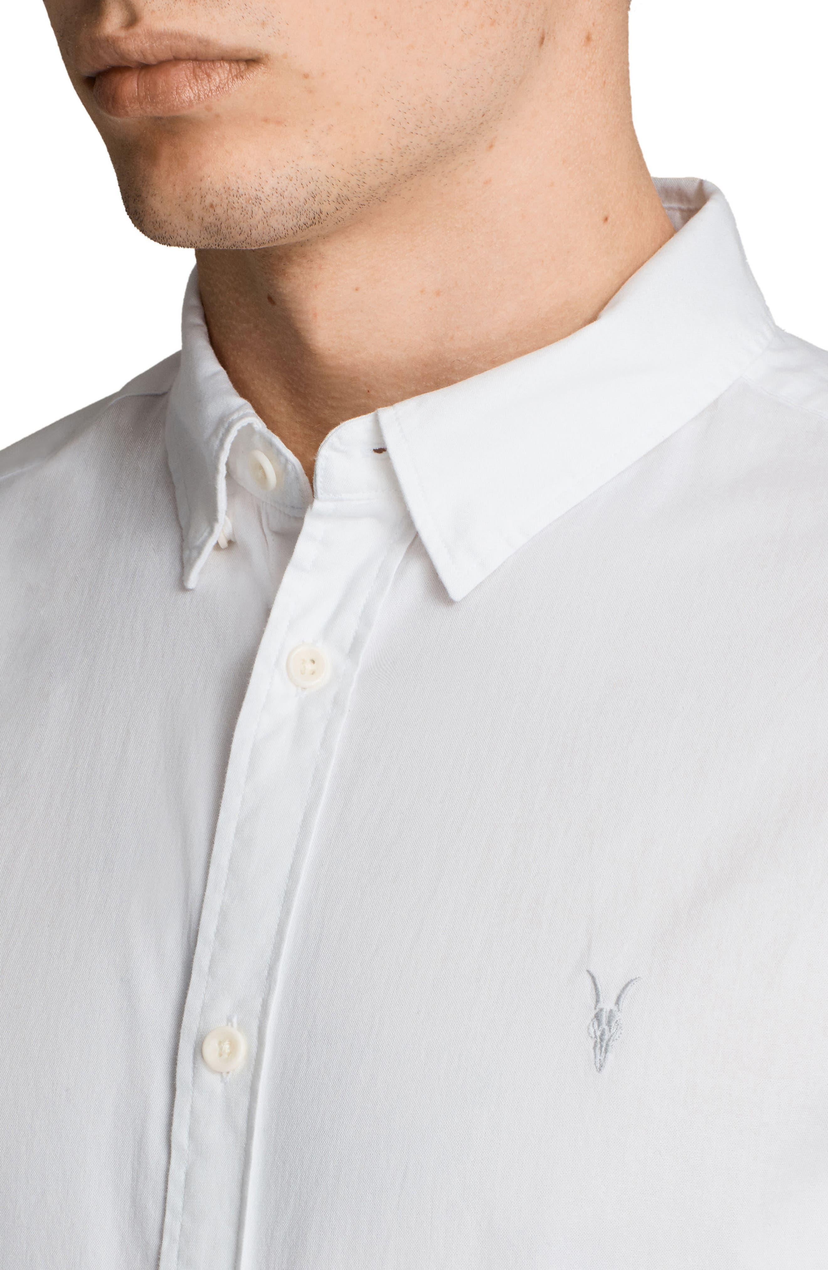 Redondo Slim Fit Sport Shirt,                             Alternate thumbnail 3, color,                             WHITE