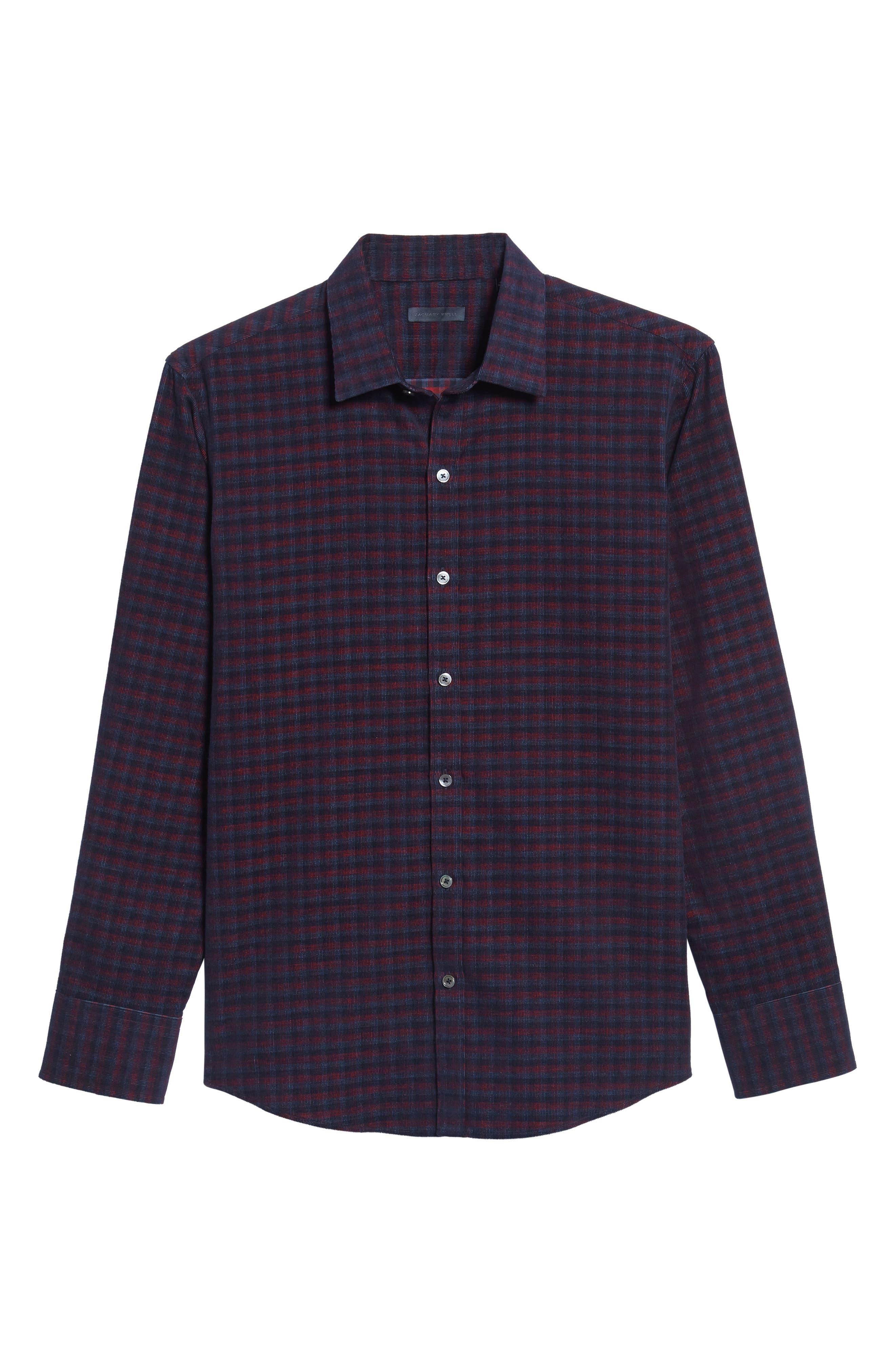 Byas Check Corduroy Sport Shirt,                             Alternate thumbnail 6, color,                             410