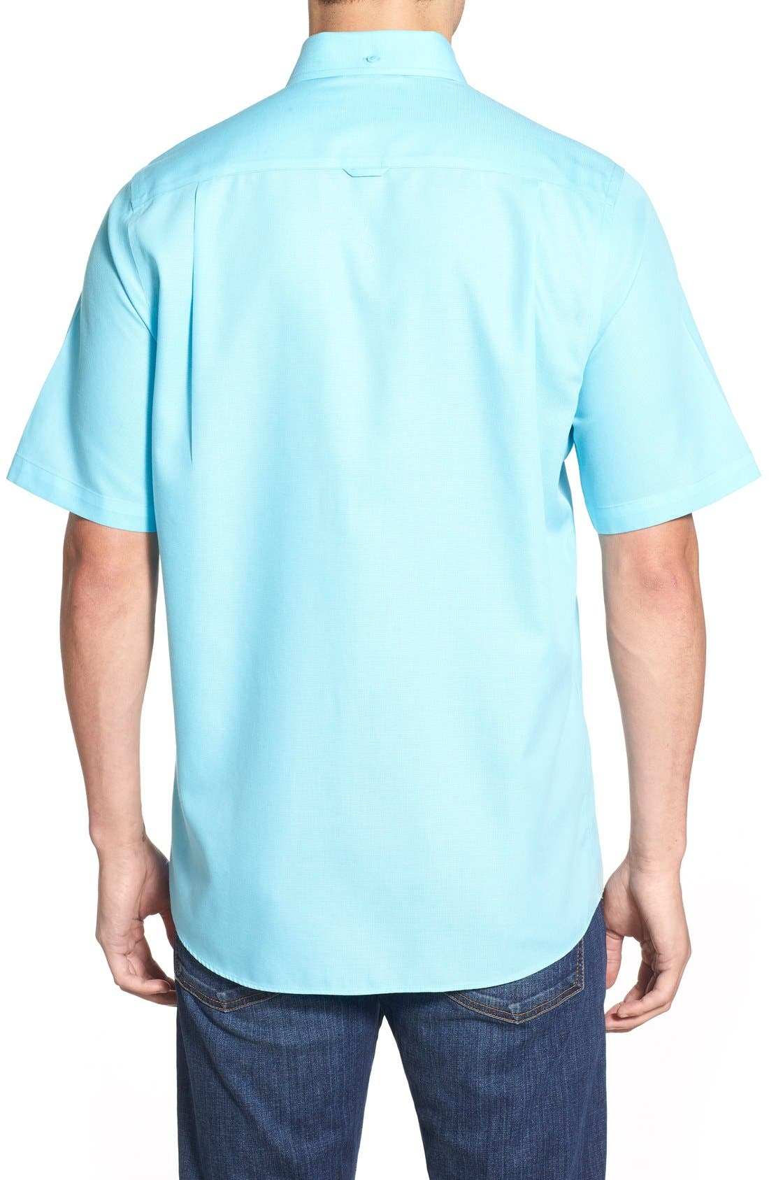'Classic' Smartcare<sup>™</sup> Regular Fit Short Sleeve Cotton Sport Shirt,                             Alternate thumbnail 36, color,