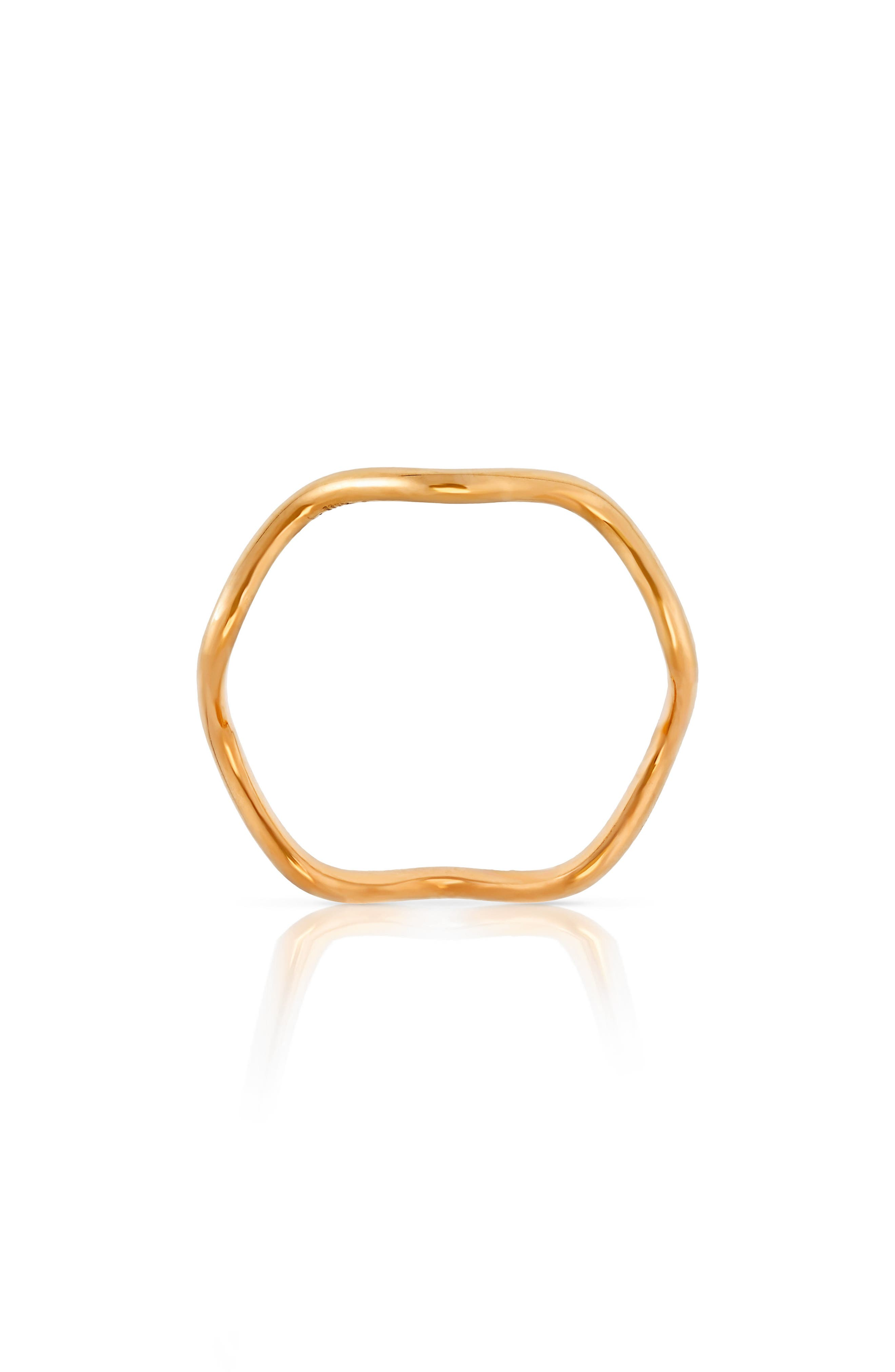 Baby Memphis Wave Band Ring,                             Alternate thumbnail 2, color,                             ROSE GOLD