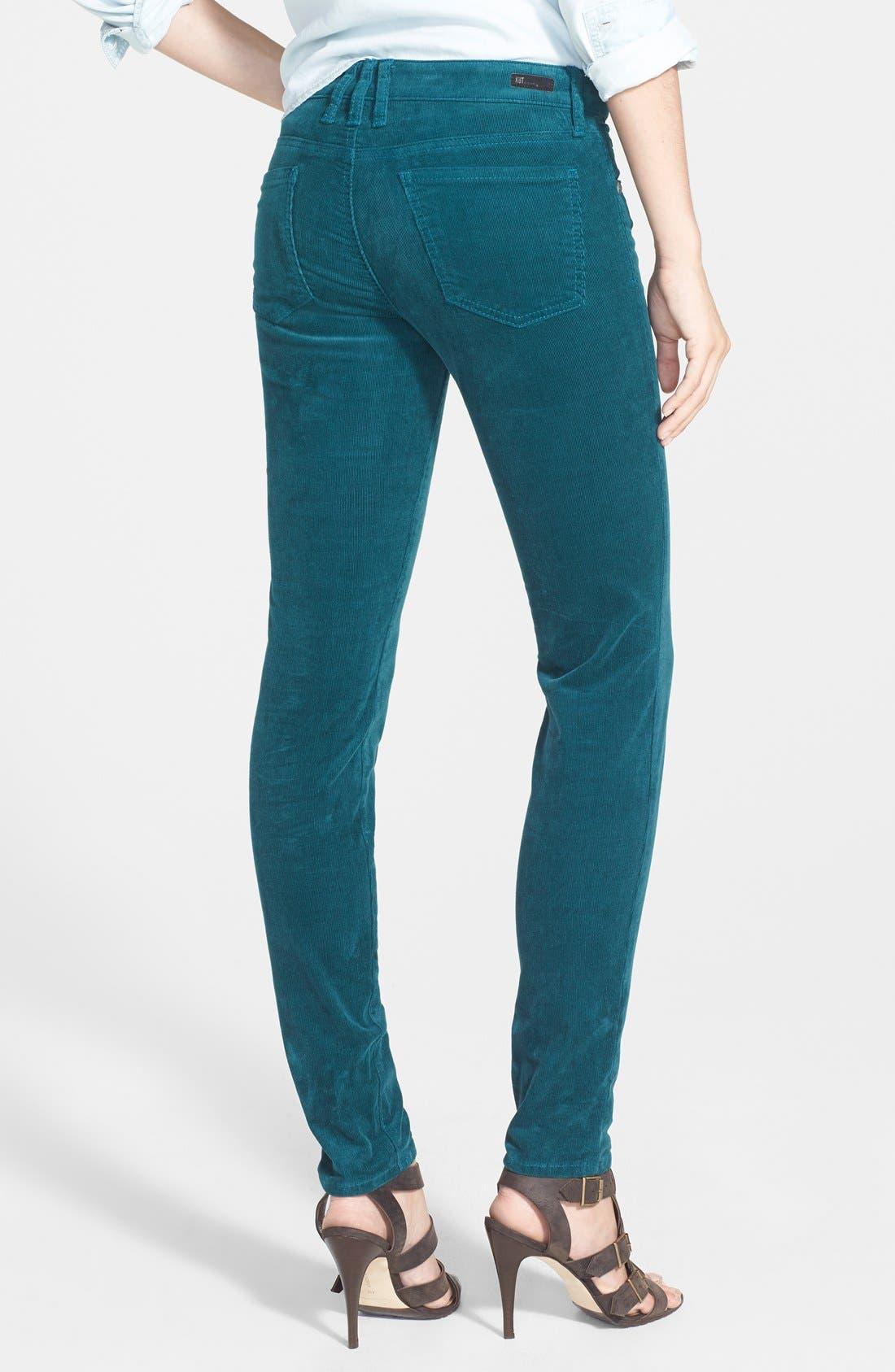 'Diana' Stretch Corduroy Skinny Pants,                             Alternate thumbnail 135, color,