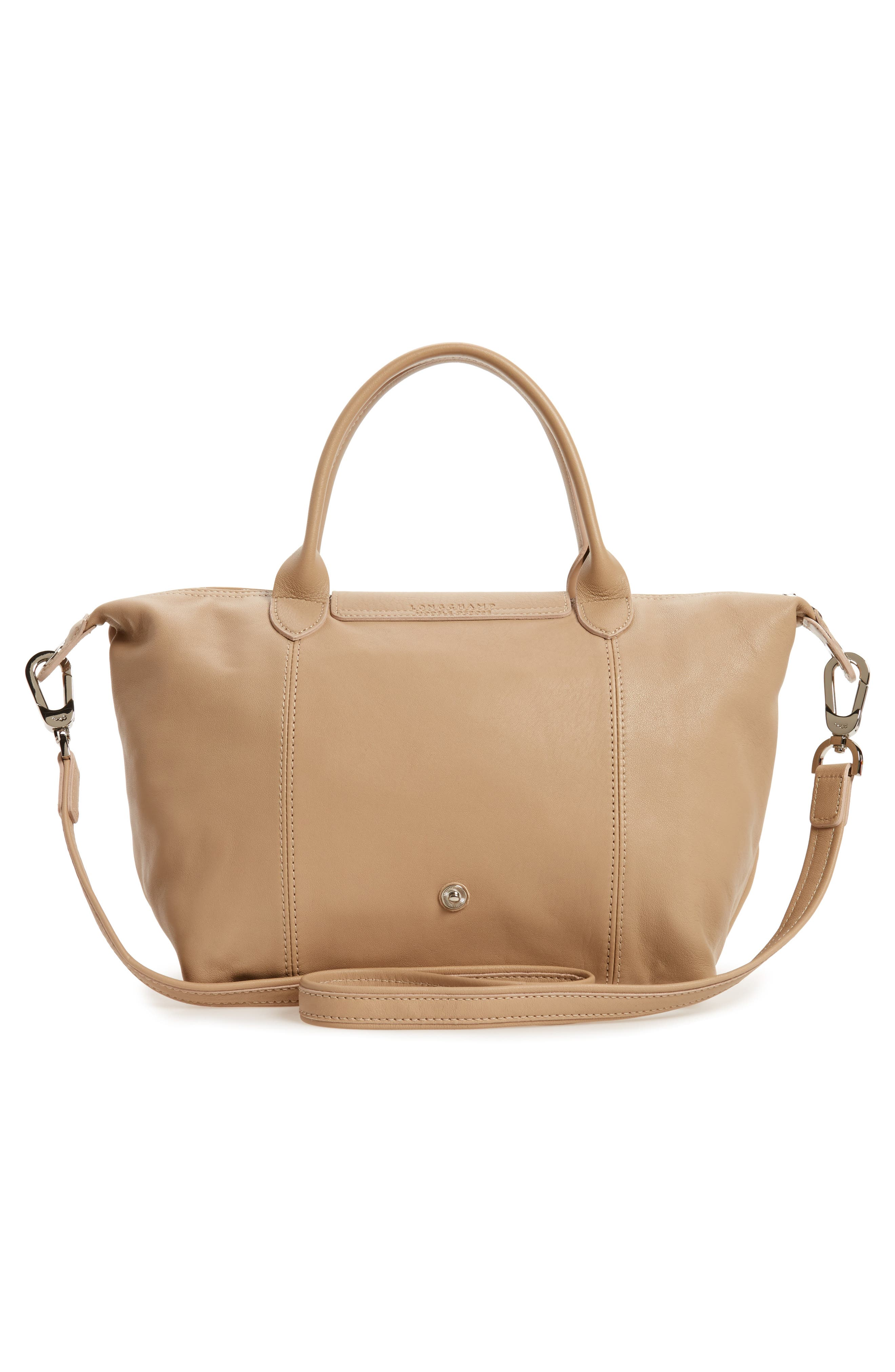 Small 'Le Pliage Cuir' Leather Top Handle Tote,                             Alternate thumbnail 46, color,