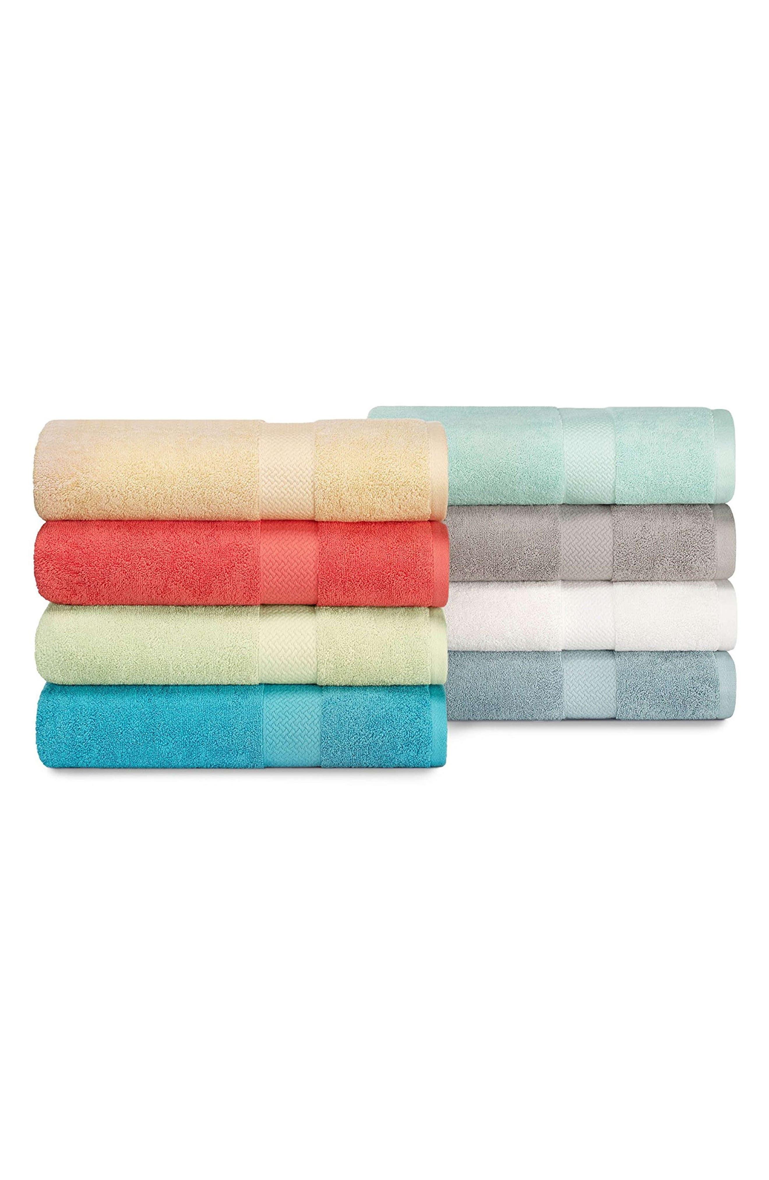 Cypress Bay 6-Piece Towel Set,                             Alternate thumbnail 2, color,                             WHITE
